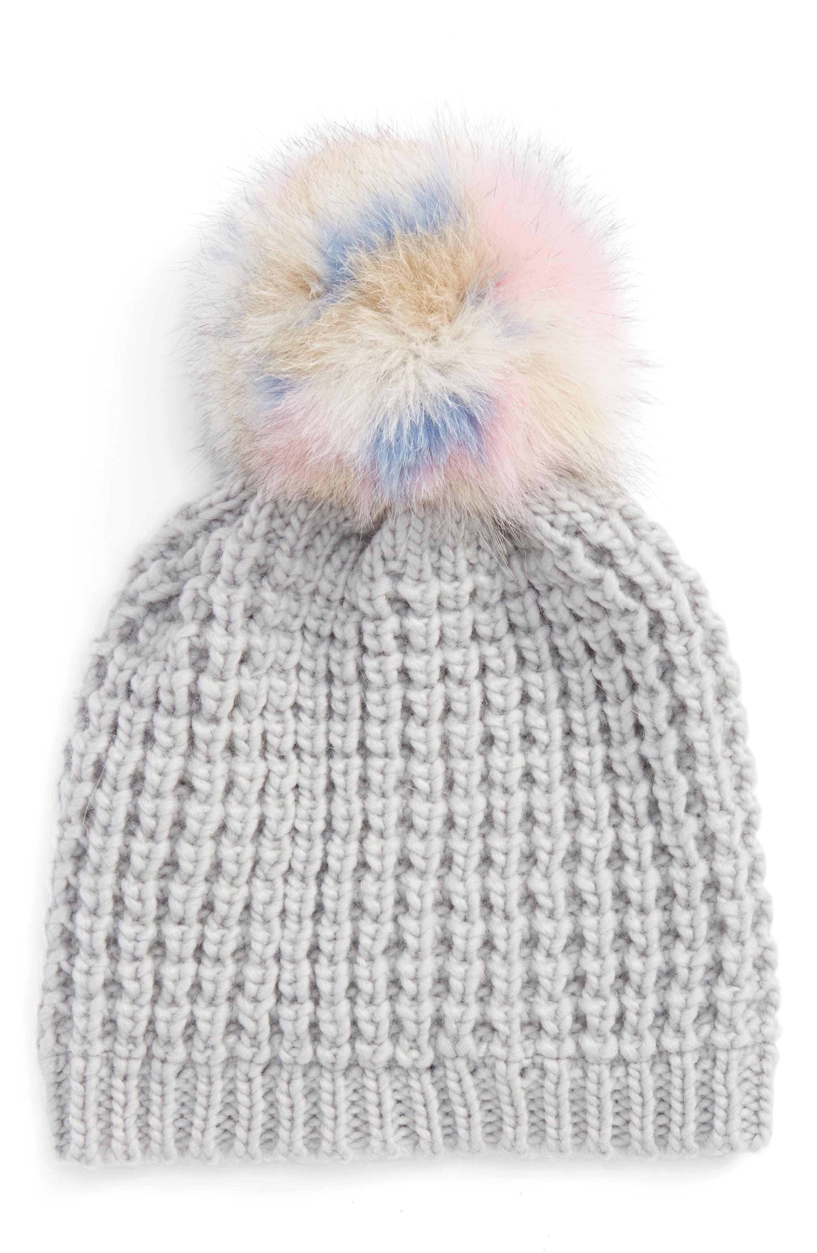 Main Image - Kyi Kyi Genuine Fox Pompom Hat