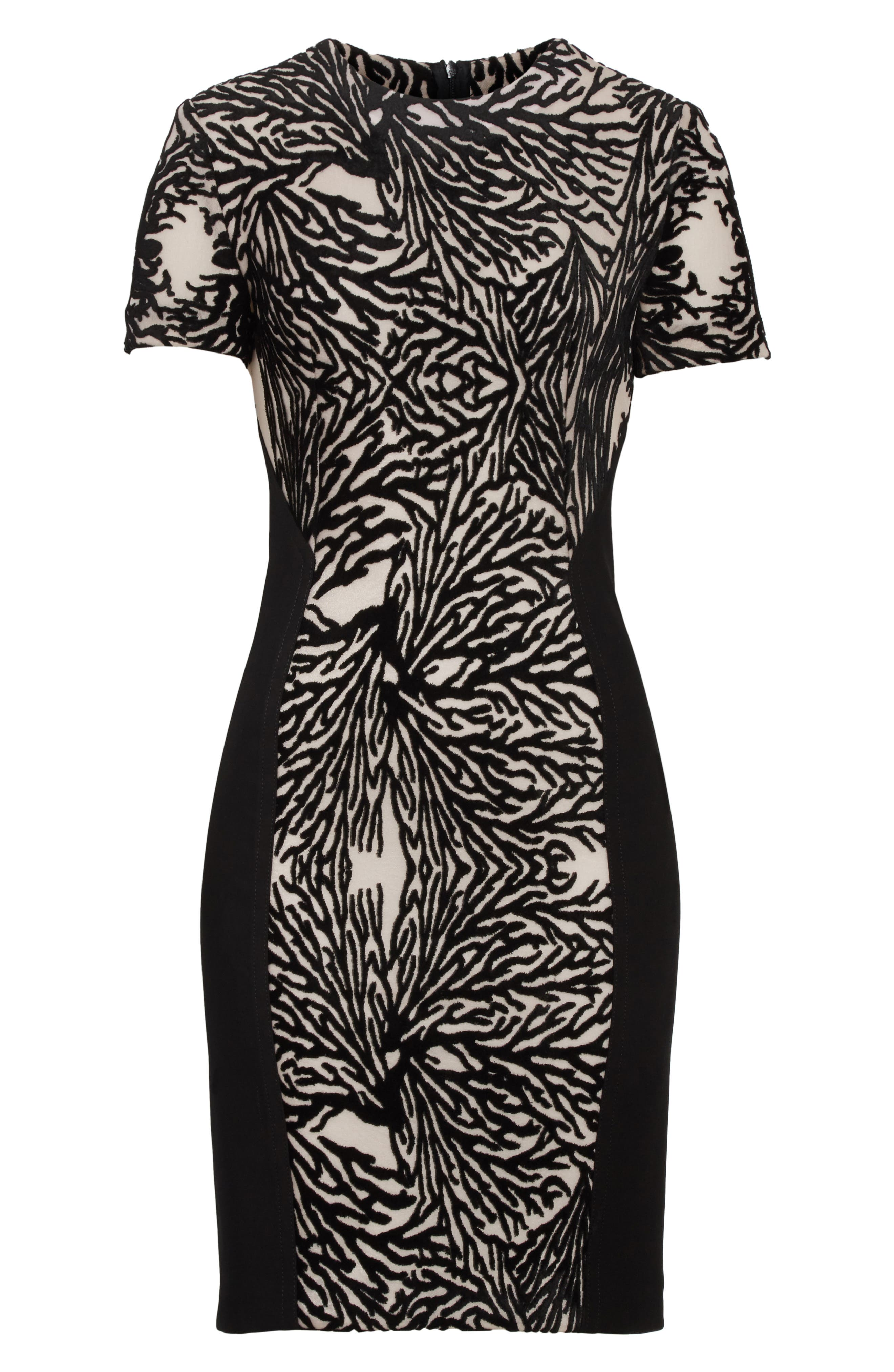 Alternate Image 6  - Yigal Azrouël Burnout Coral Sheath Dress