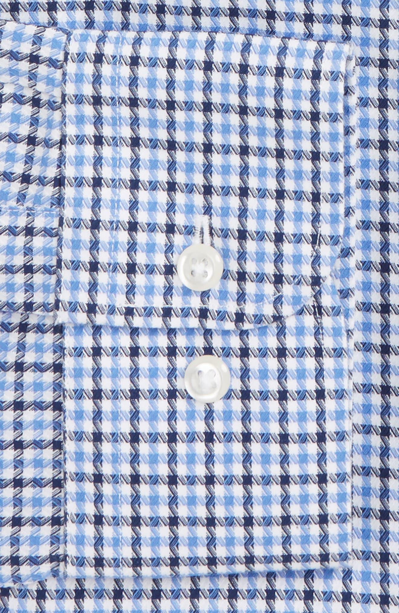 Smartcare<sup>™</sup> Trim Fit Check Dress Shirt,                             Alternate thumbnail 2, color,                             Navy Evening