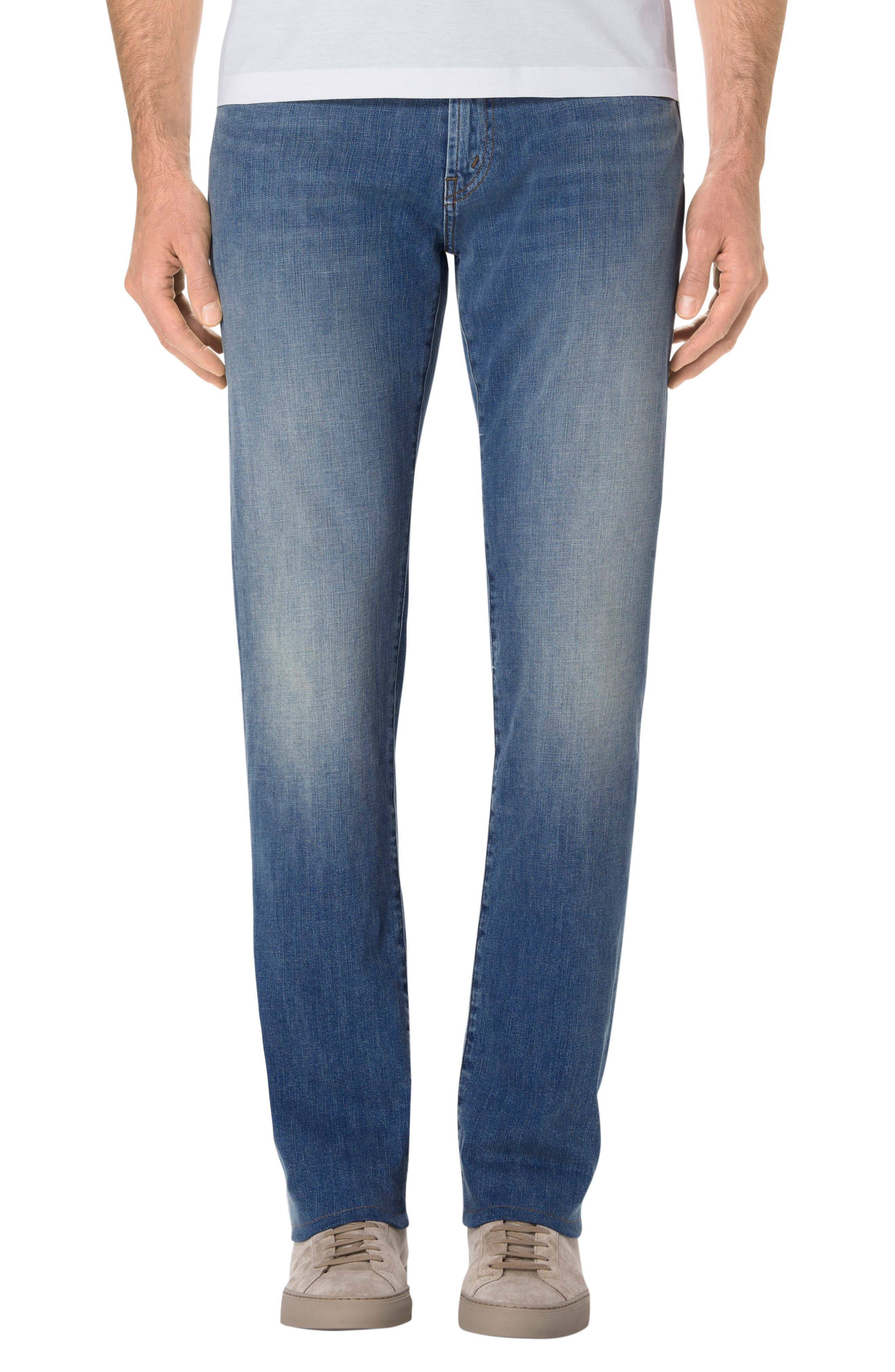 Alternate Image 1 Selected - J Brand Kane Slim Straight Fit Jeans (Hydrogen)