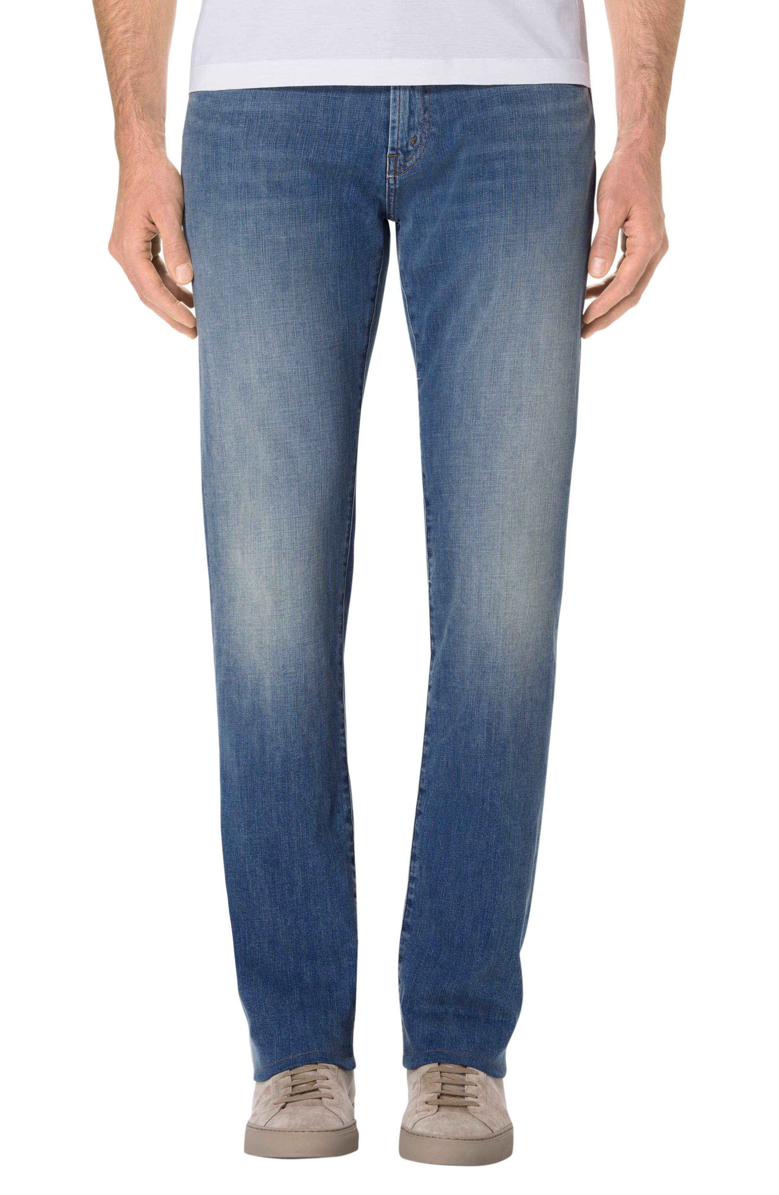 J Brand Kane Slim Straight Fit Jeans (Hydrogen)