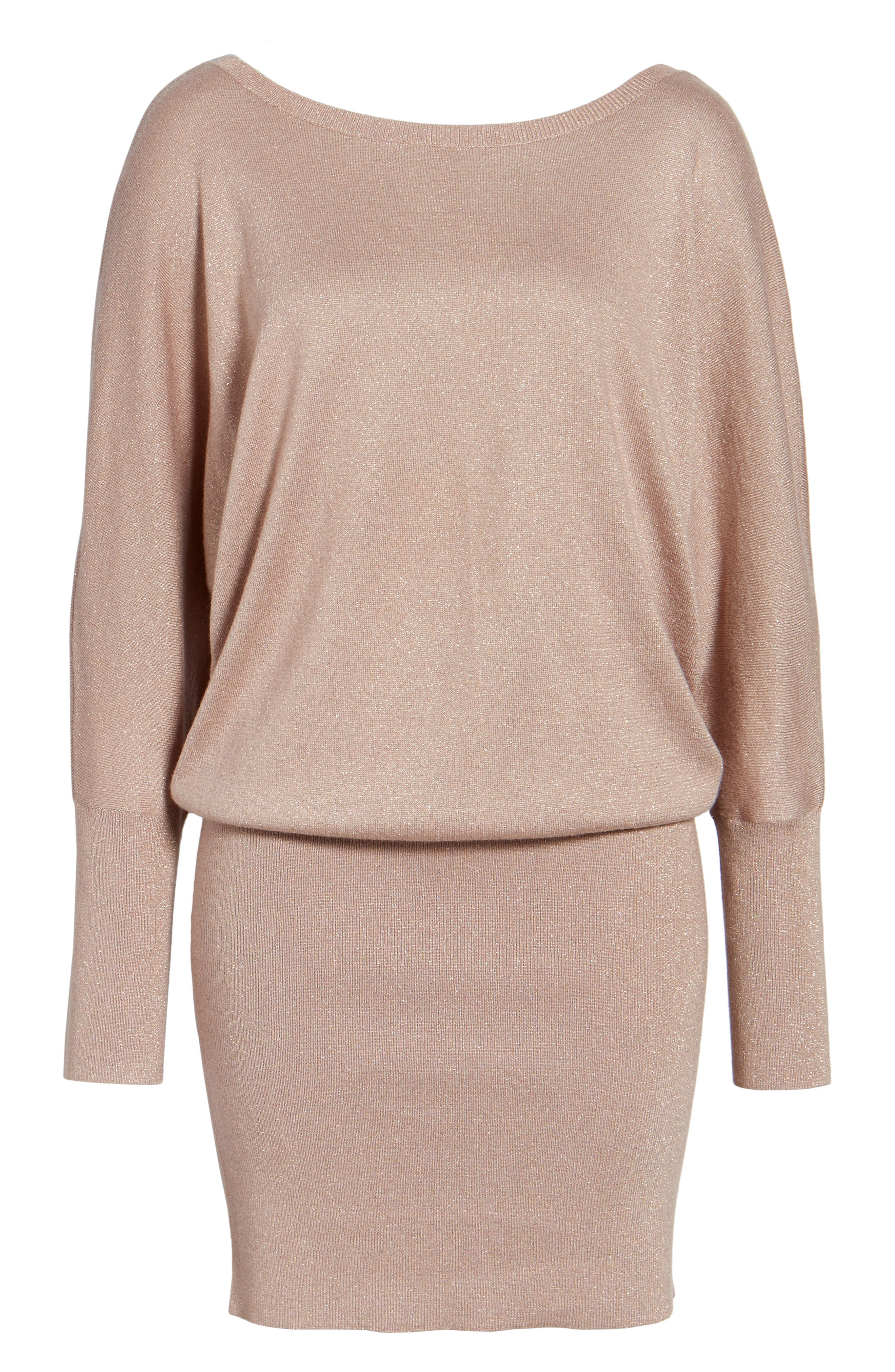 Alternate Image 6  - Leith Shine Dolman Sleeve Sweater Dress