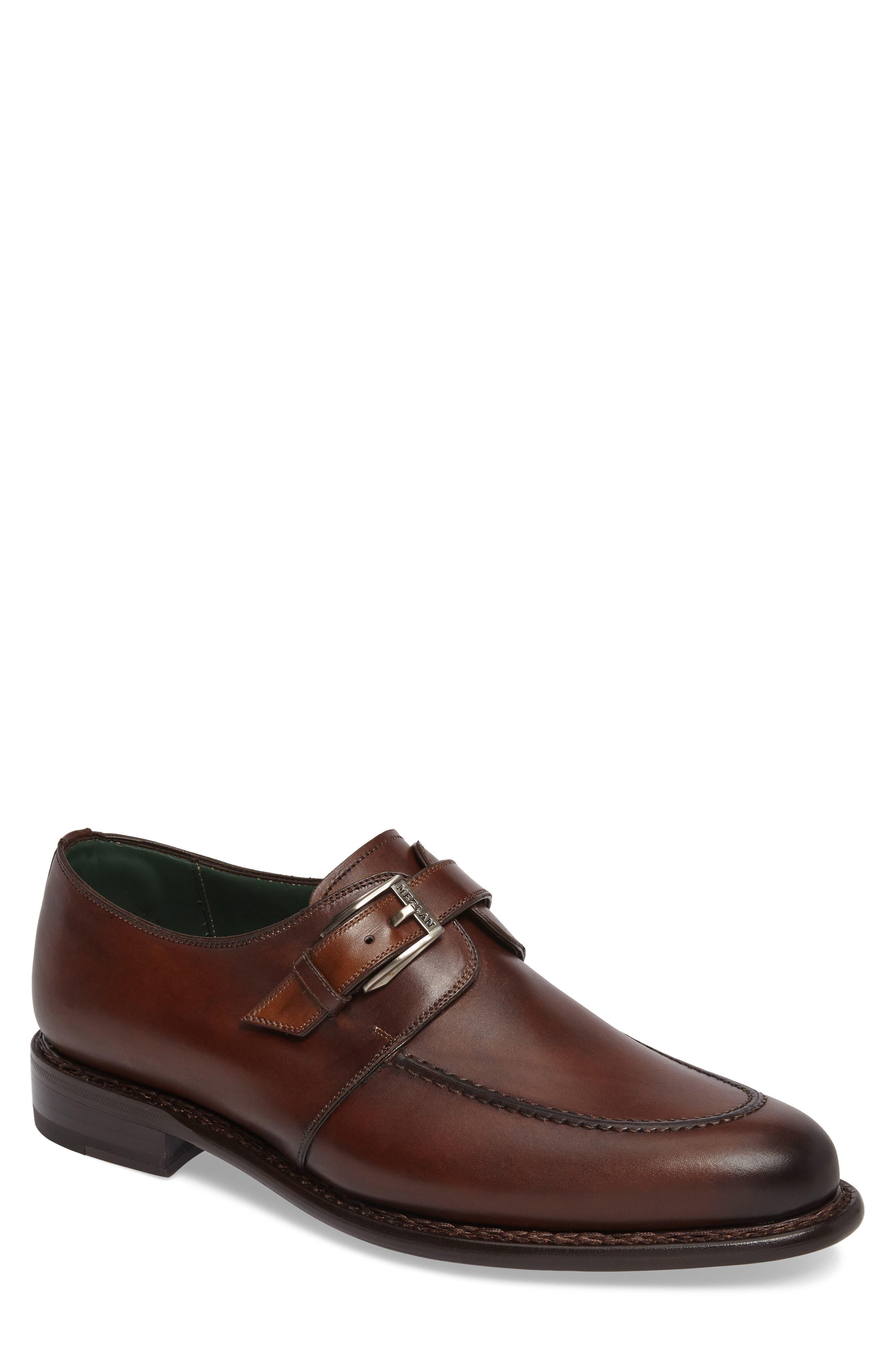 Aguilar Monk Strap Shoe,                             Main thumbnail 1, color,                             Cognac Leather
