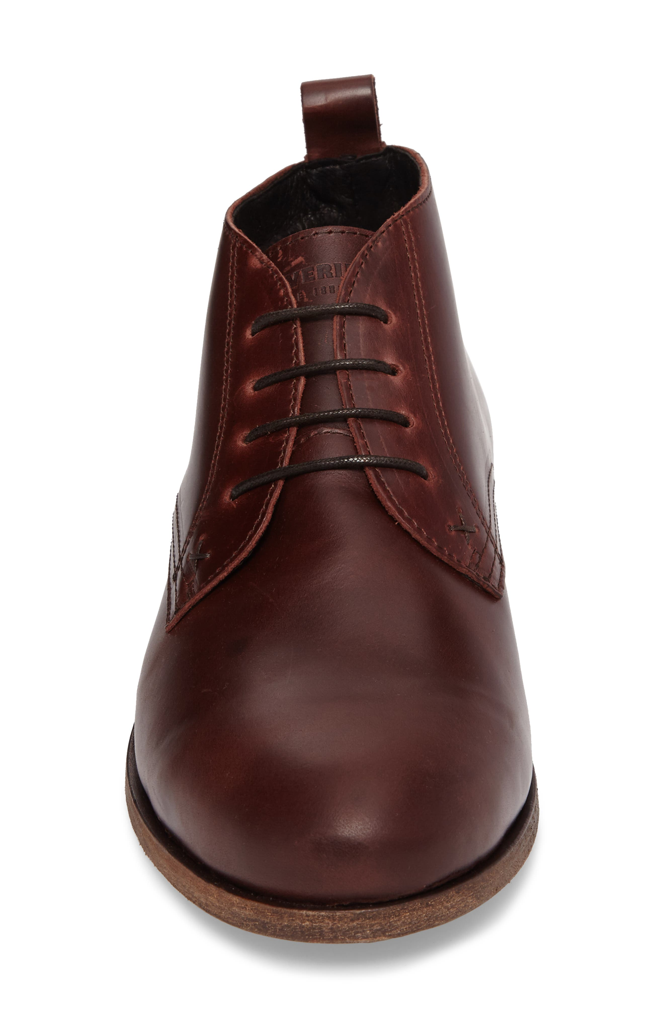 Deacon Chukka Boot,                             Alternate thumbnail 4, color,                             Brown Leather