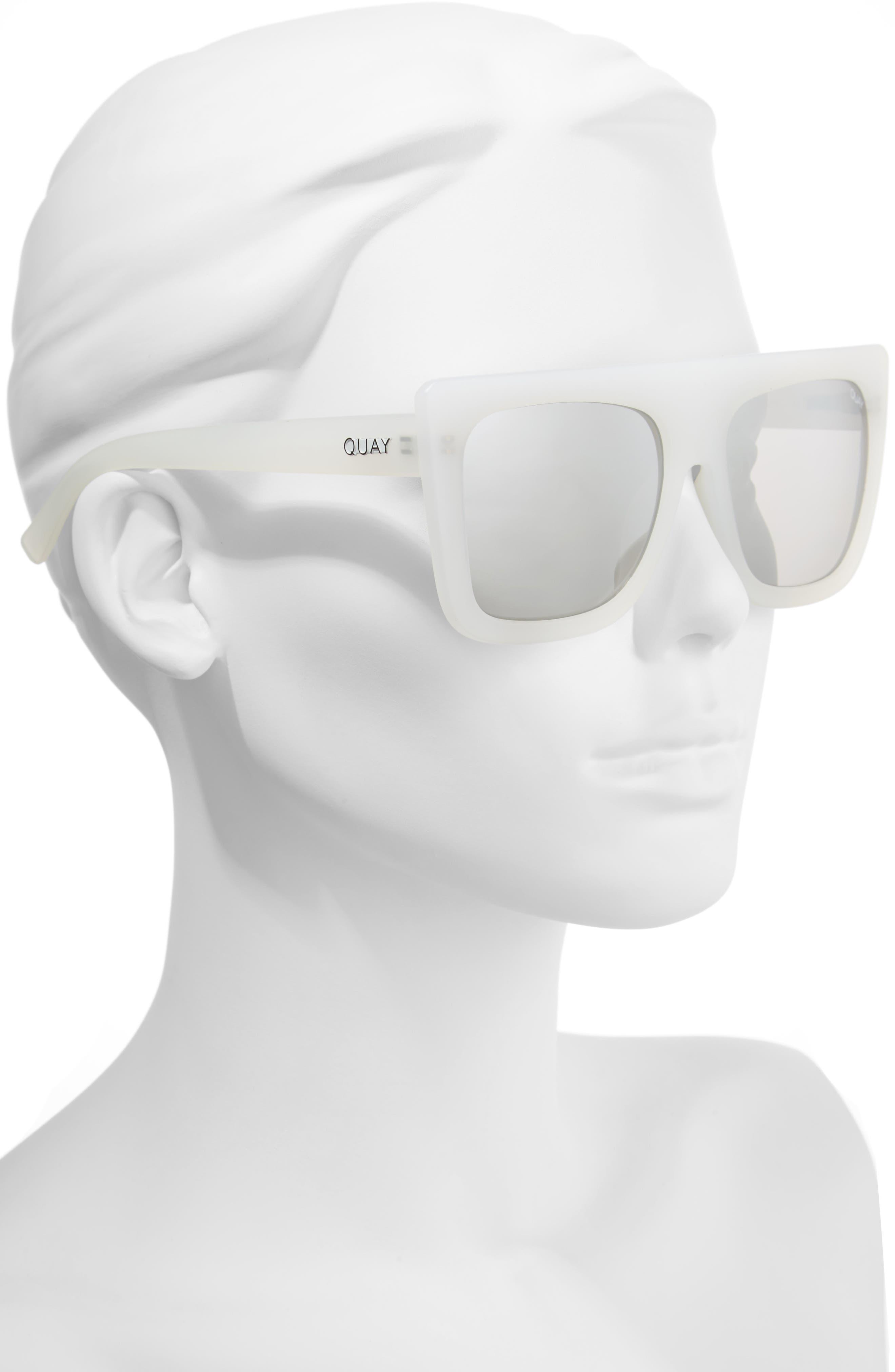 Cafe Racer 60mm Sunglasses,                             Alternate thumbnail 2, color,                             White Silver