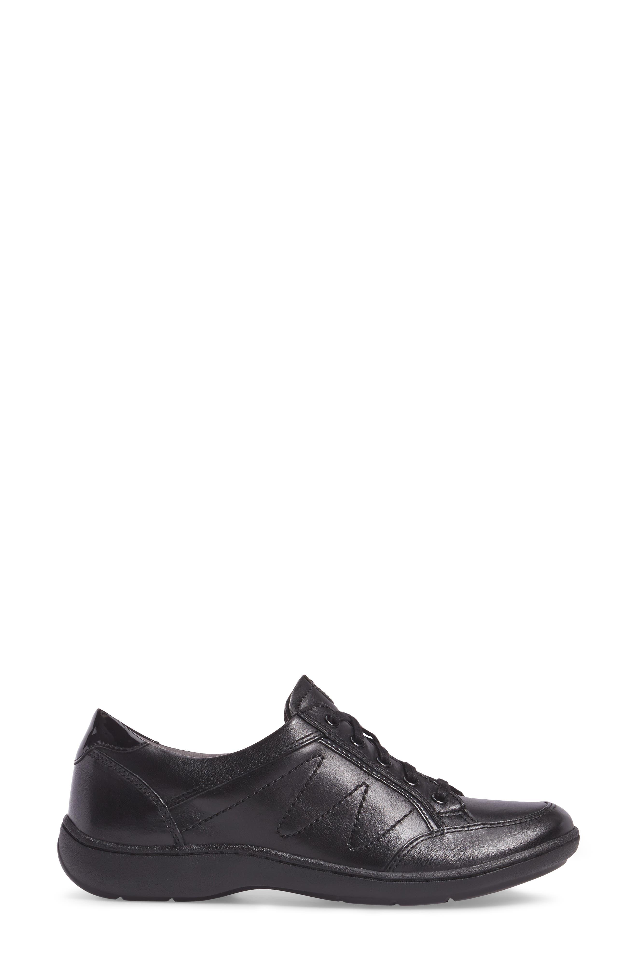 Bromly Sneaker,                             Alternate thumbnail 3, color,                             Black Leather