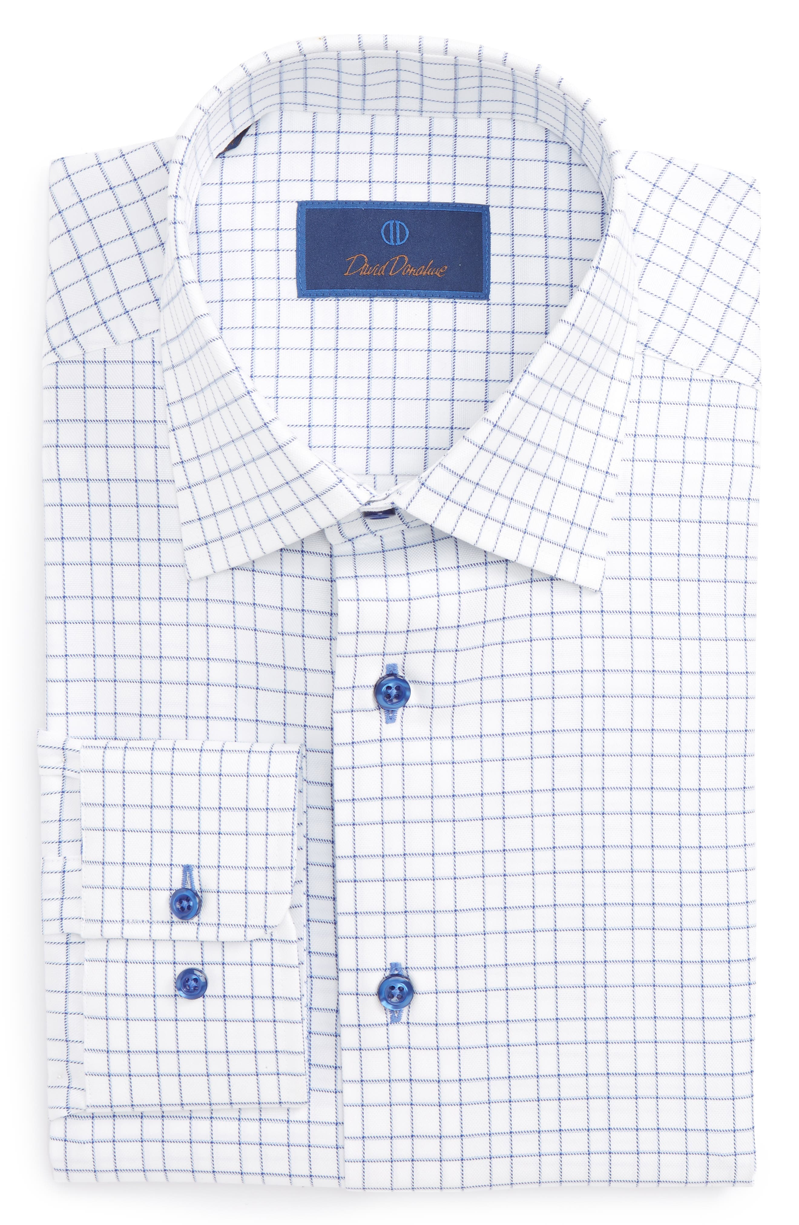 Regular Fit Dress Shirt,                             Main thumbnail 1, color,                             Blue