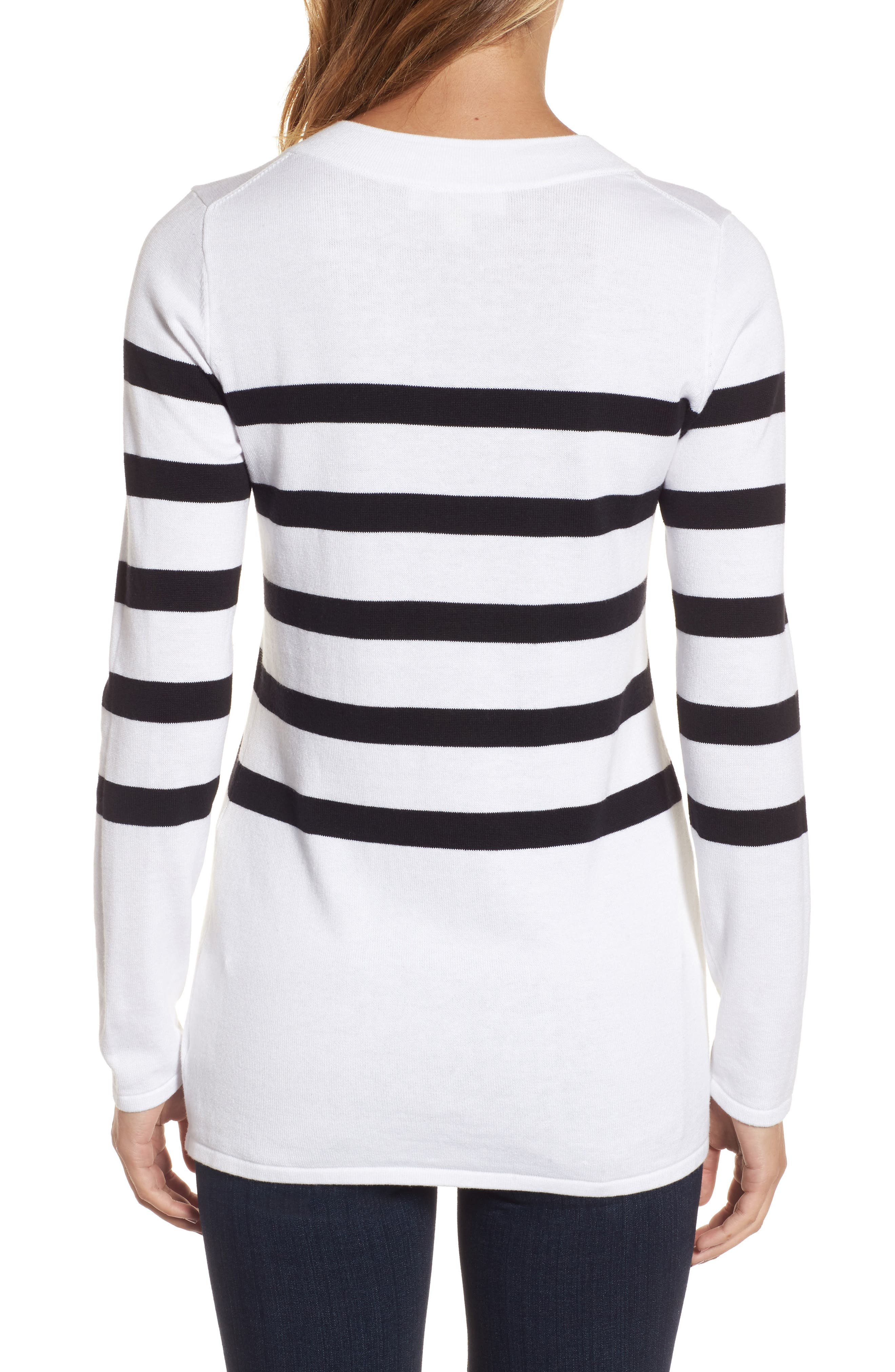 Laced Chain Tunic,                             Alternate thumbnail 2, color,                             White/ Black