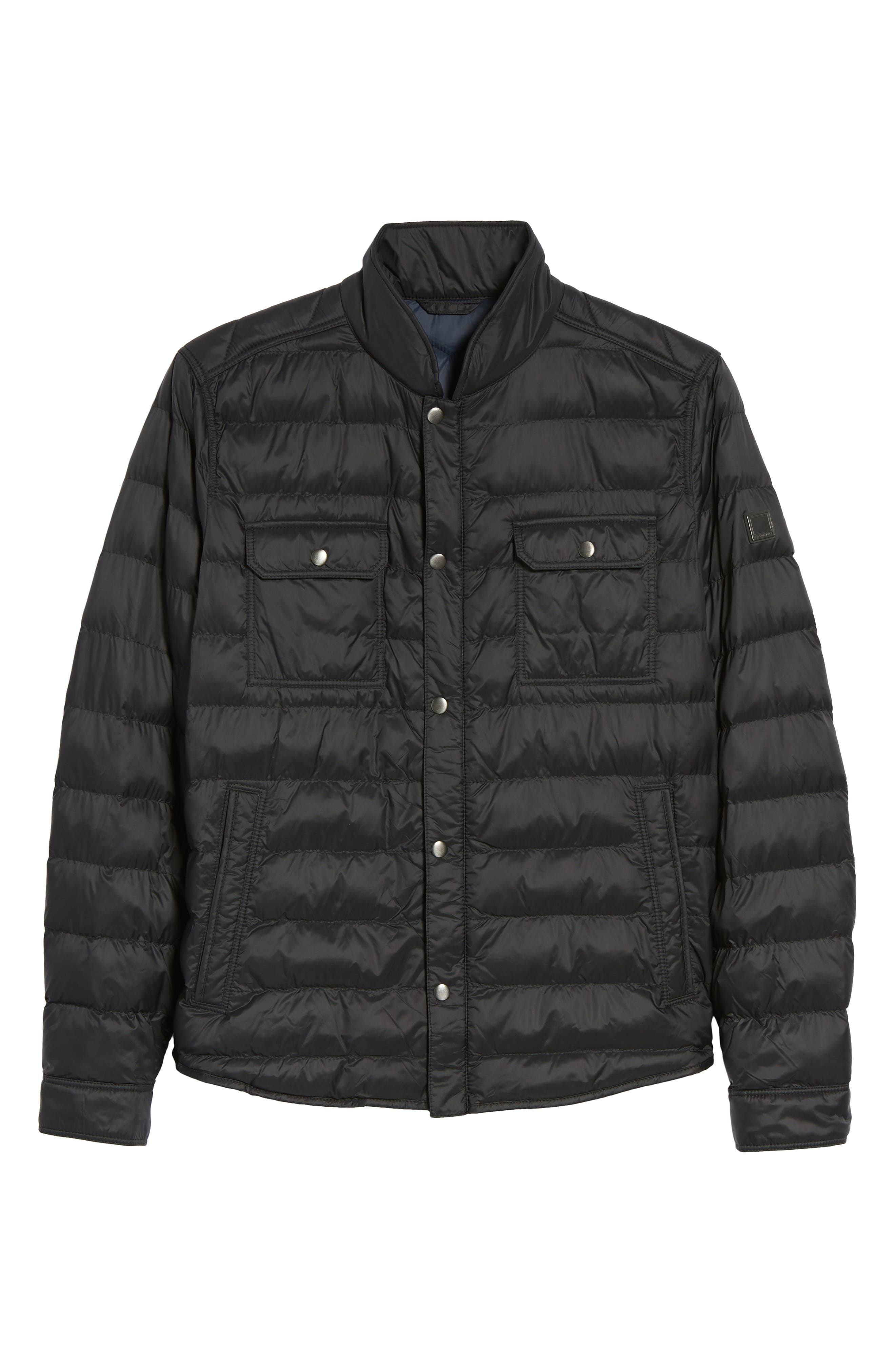 Orin Water Repellent Quilted Jacket,                             Alternate thumbnail 6, color,                             Black