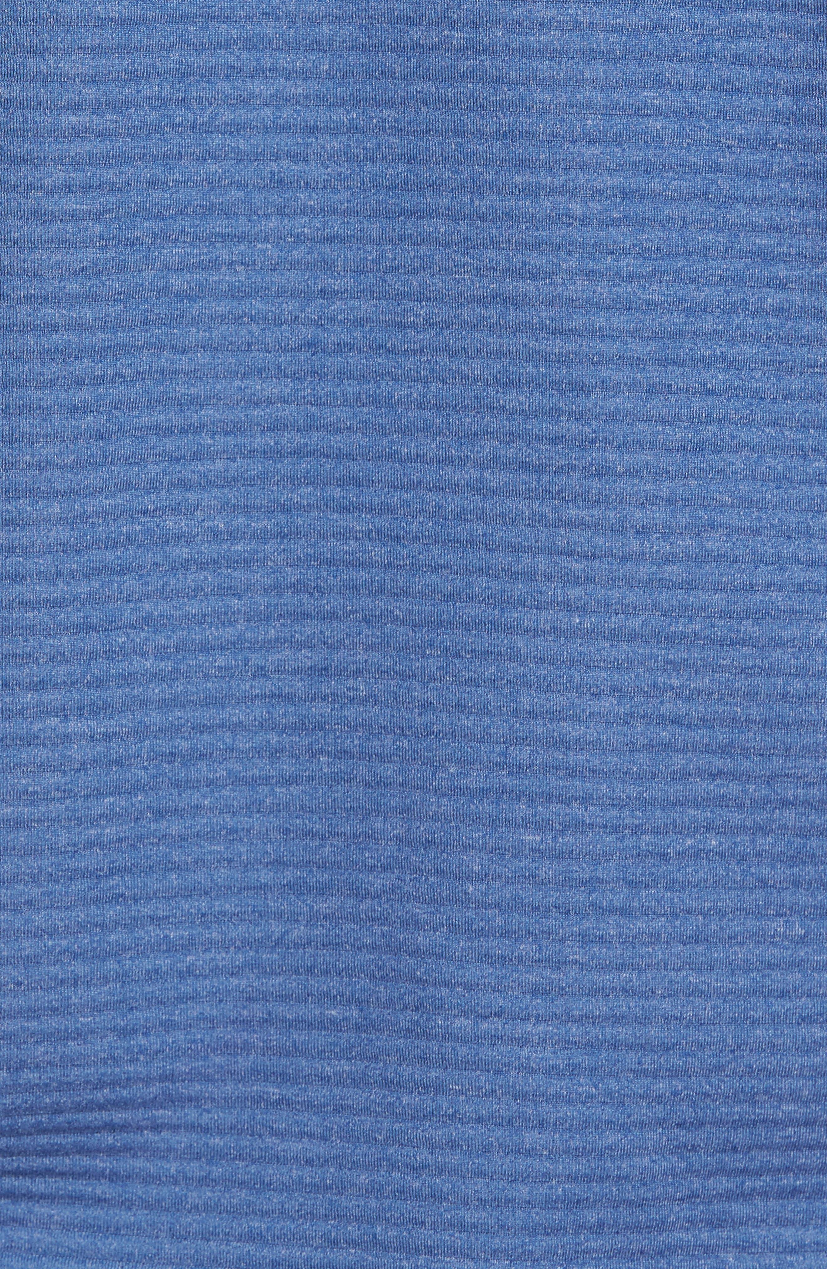 Furrow Quarter Zip Hoodie,                             Alternate thumbnail 5, color,                             Seven Seas Blue