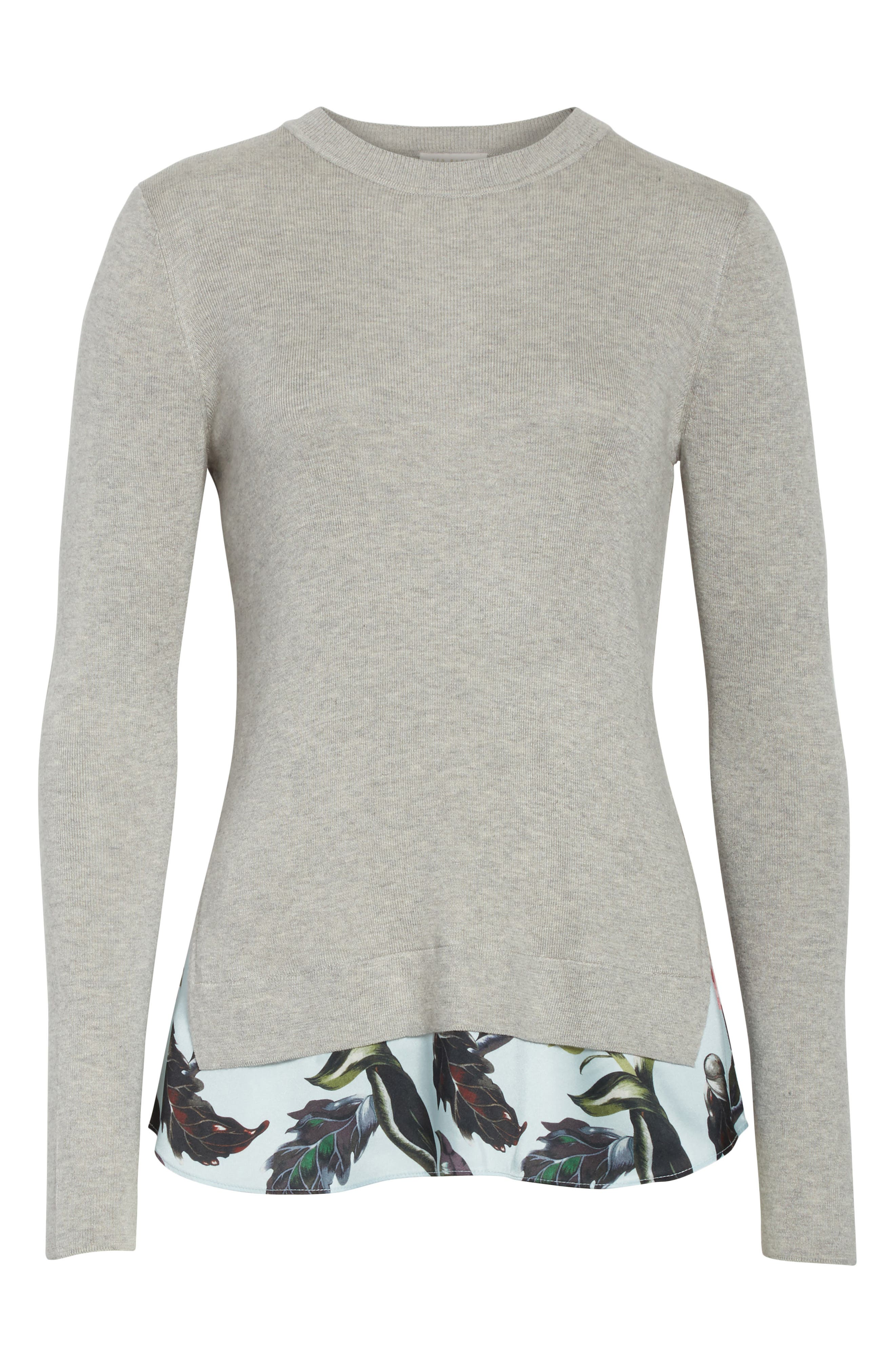 Karley Minerals Mockable Sweater,                             Alternate thumbnail 6, color,                             Light Grey