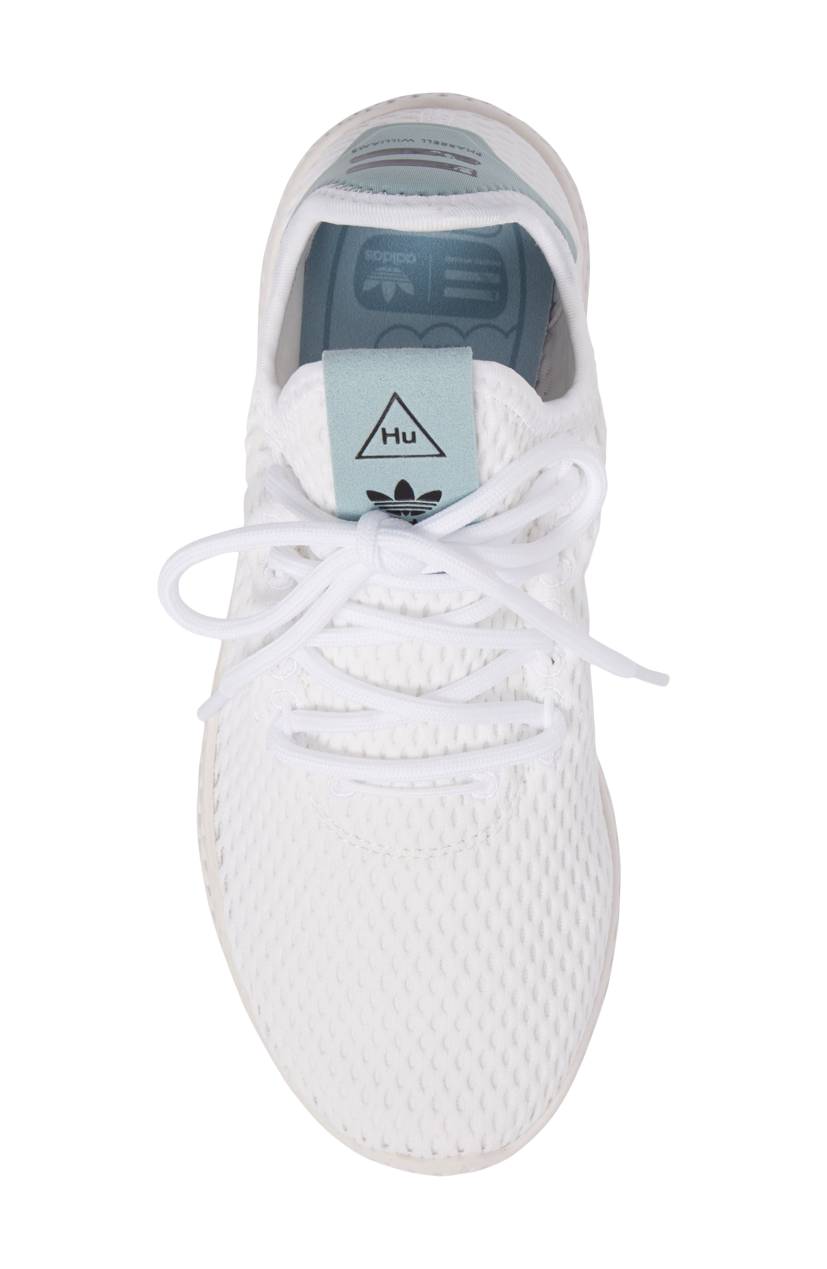 Originals x Pharrell Williams The Summers Mesh Sneaker,                             Alternate thumbnail 5, color,                             Footwear White/ Linen Green