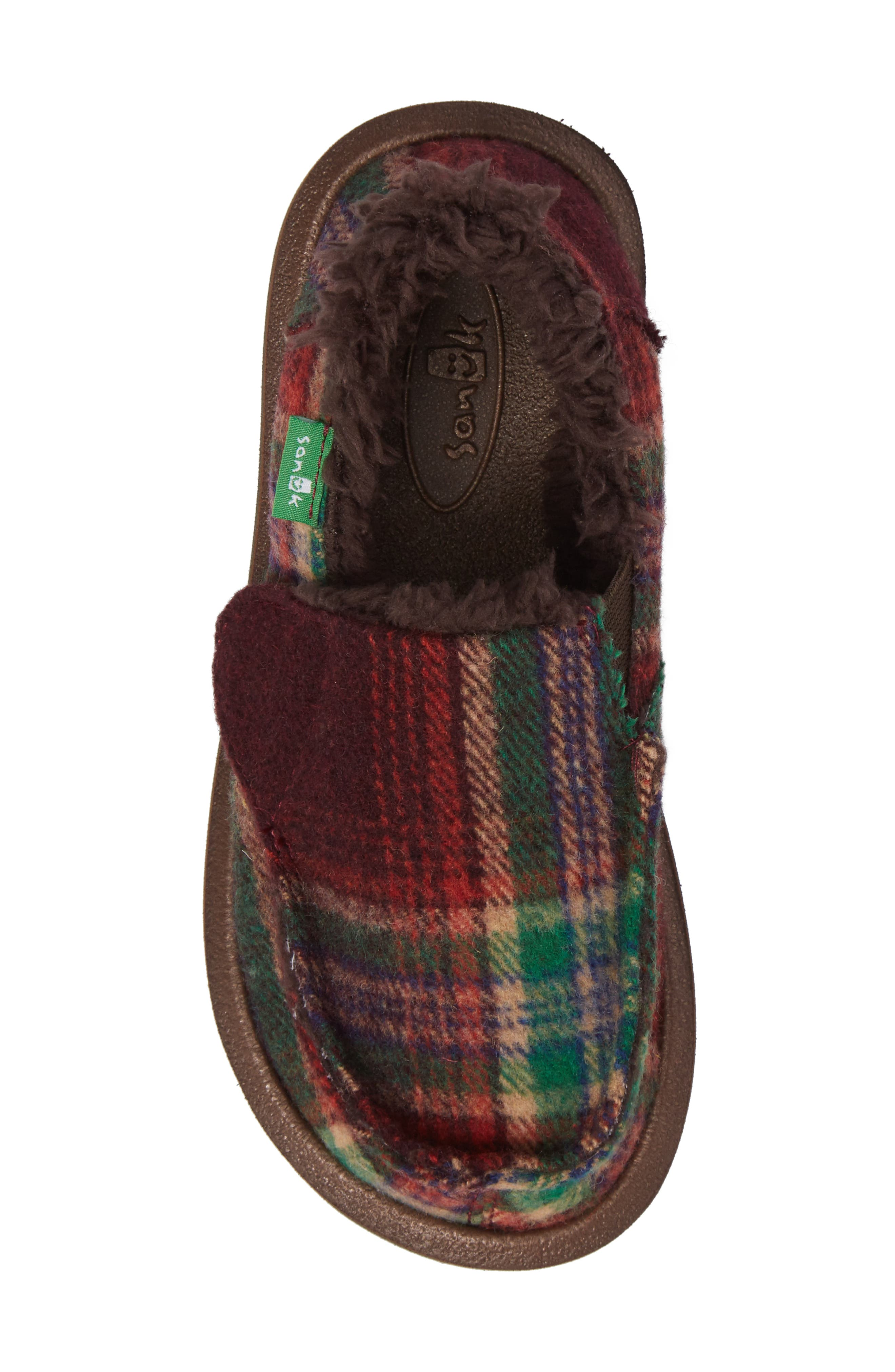 Alternate Image 5  - Sanuk Vagabond Plaid Chill Faux Fur Slip-On (Toddler, Little Kid & Big Kid)