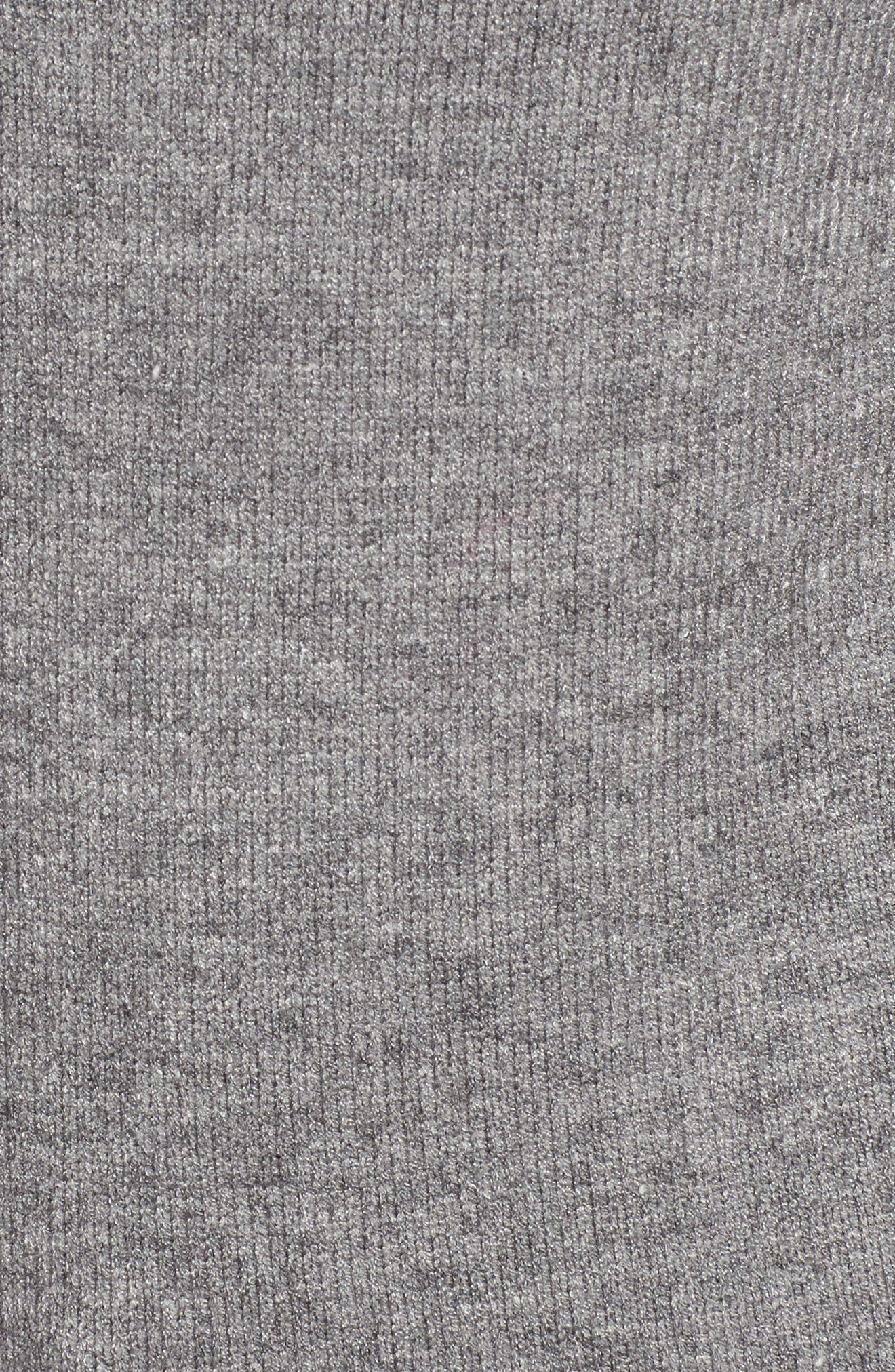 RD Style Funnel Neck Sweater,                             Alternate thumbnail 5, color,                             Grey