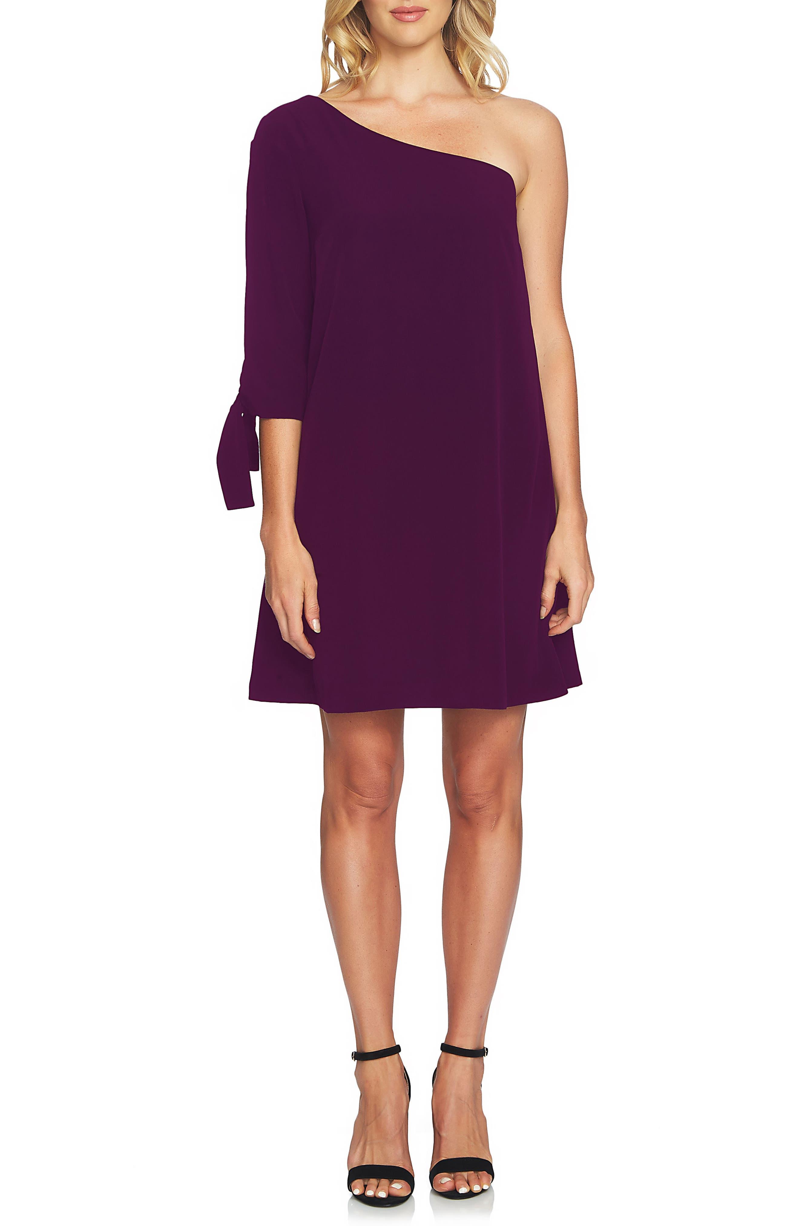 CeCe Sophia One-Shoulder Shift Dress