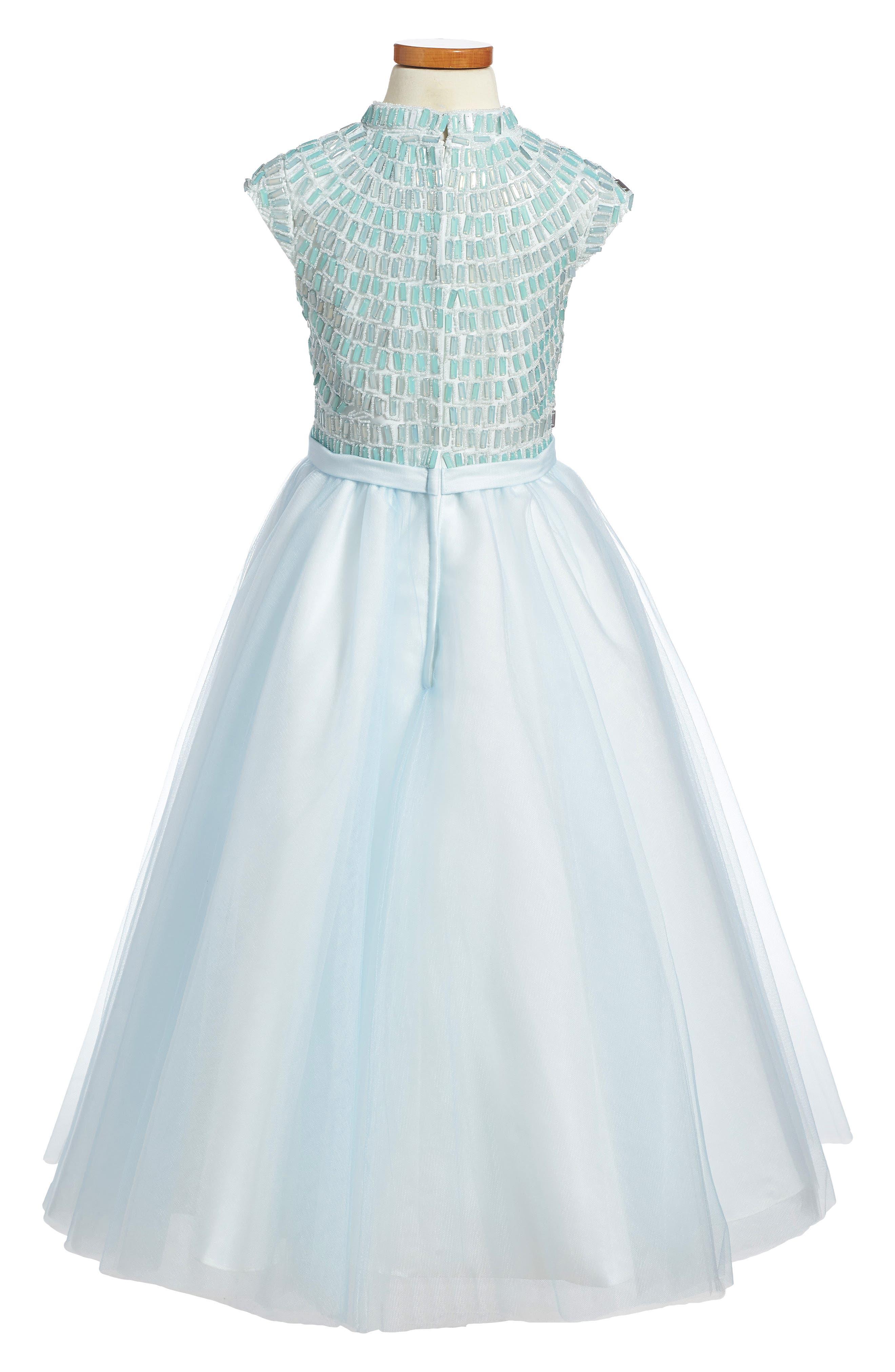 Alternate Image 2  - Joan Calabrese for Mon Cheri Beaded Dress (Little Girls & Big Girls)