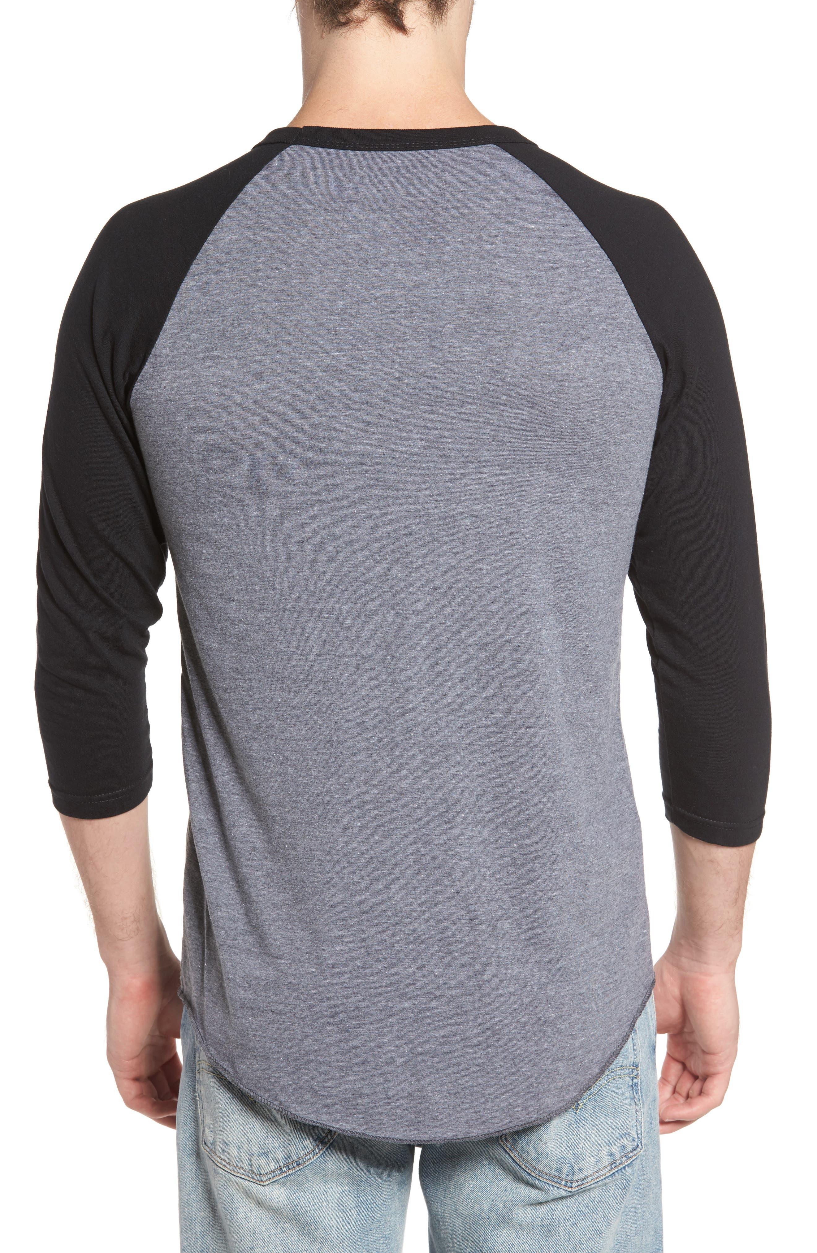 Planer Raglan T-Shirt,                             Alternate thumbnail 2, color,                             Grey W/ Black