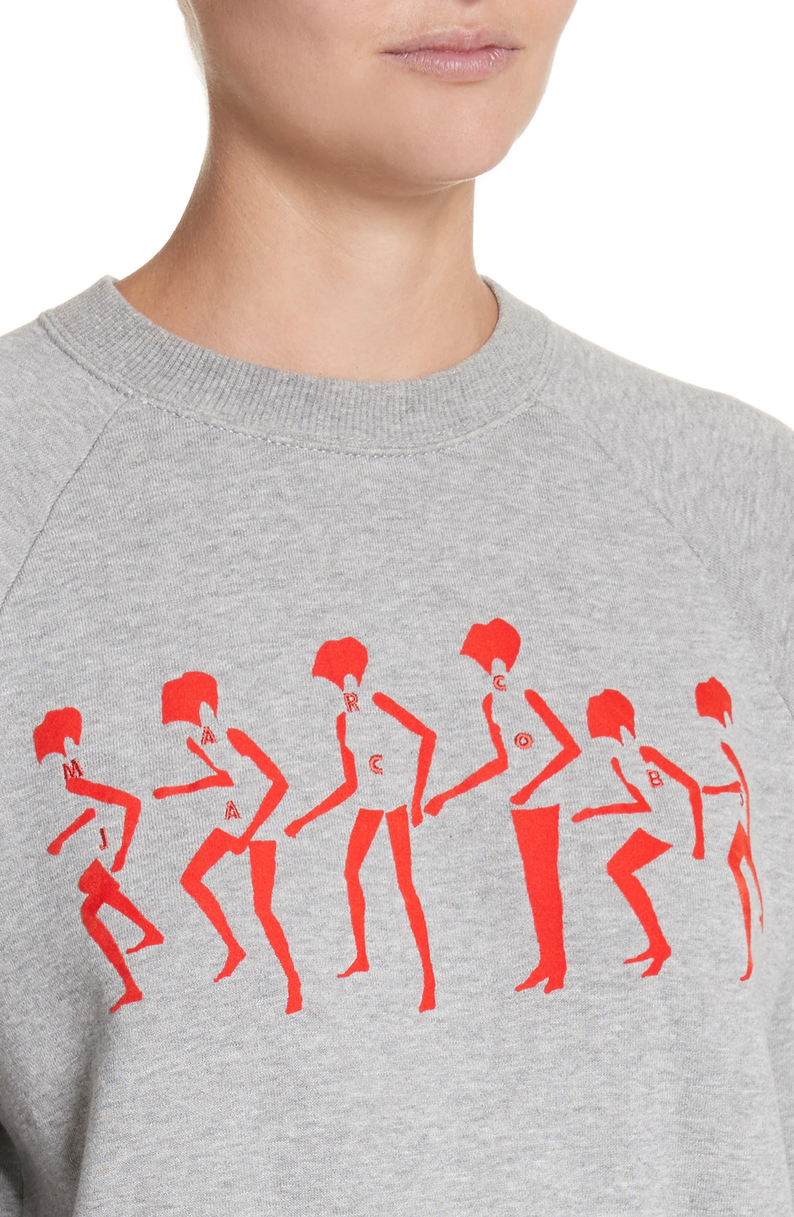Alternate Image 4  - MARC JACOBS Graphic Raglan Sweatshirt