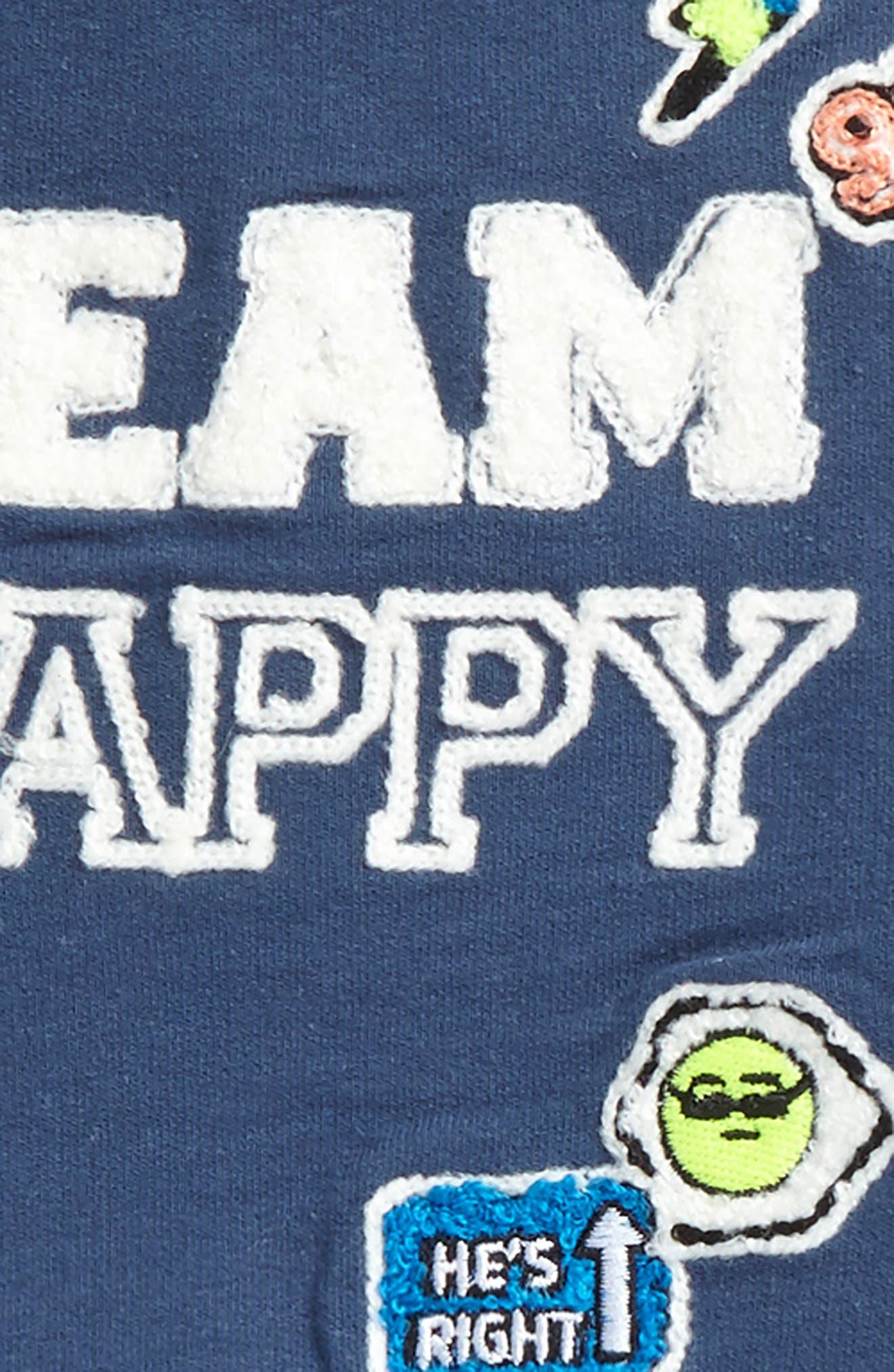 Alternate Image 2  - Rosie Pope Team Happy Sweatshirt & Sweatpants Set (Baby Boys)