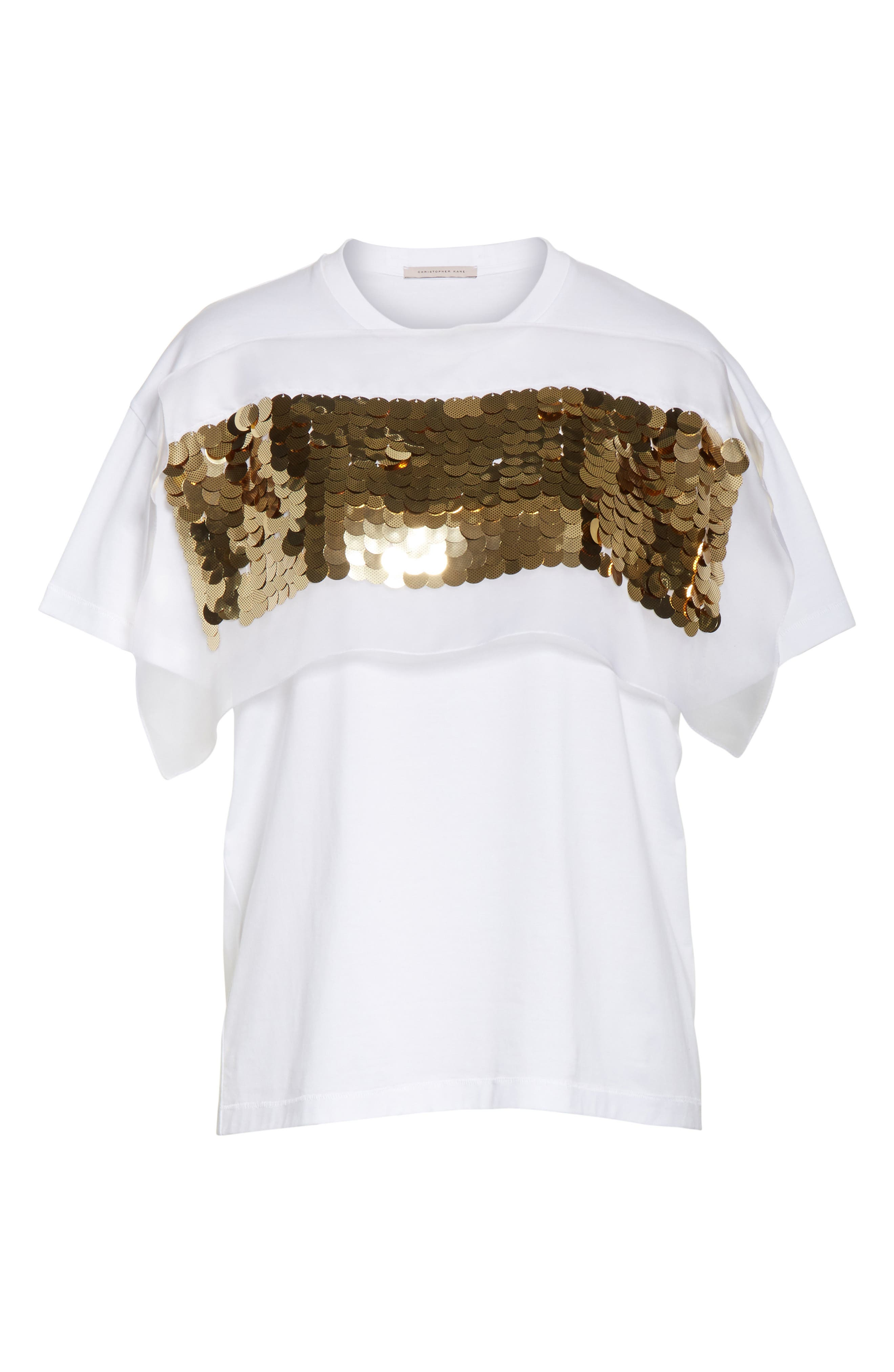 Sequin Tee,                             Alternate thumbnail 6, color,                             White