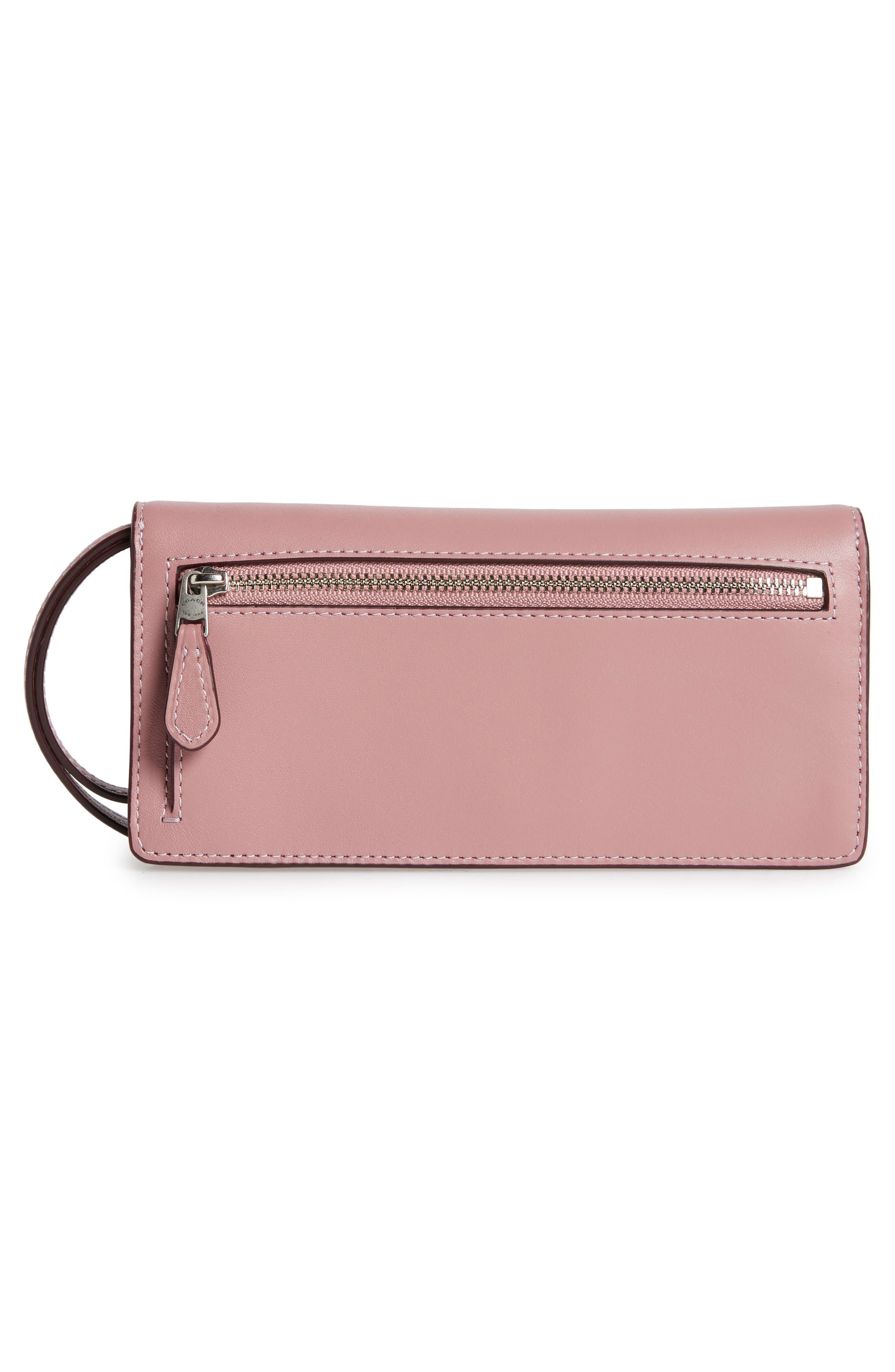 Alternate Image 3  - COACH Slim Tea Rose Calfskin Leather Wristlet