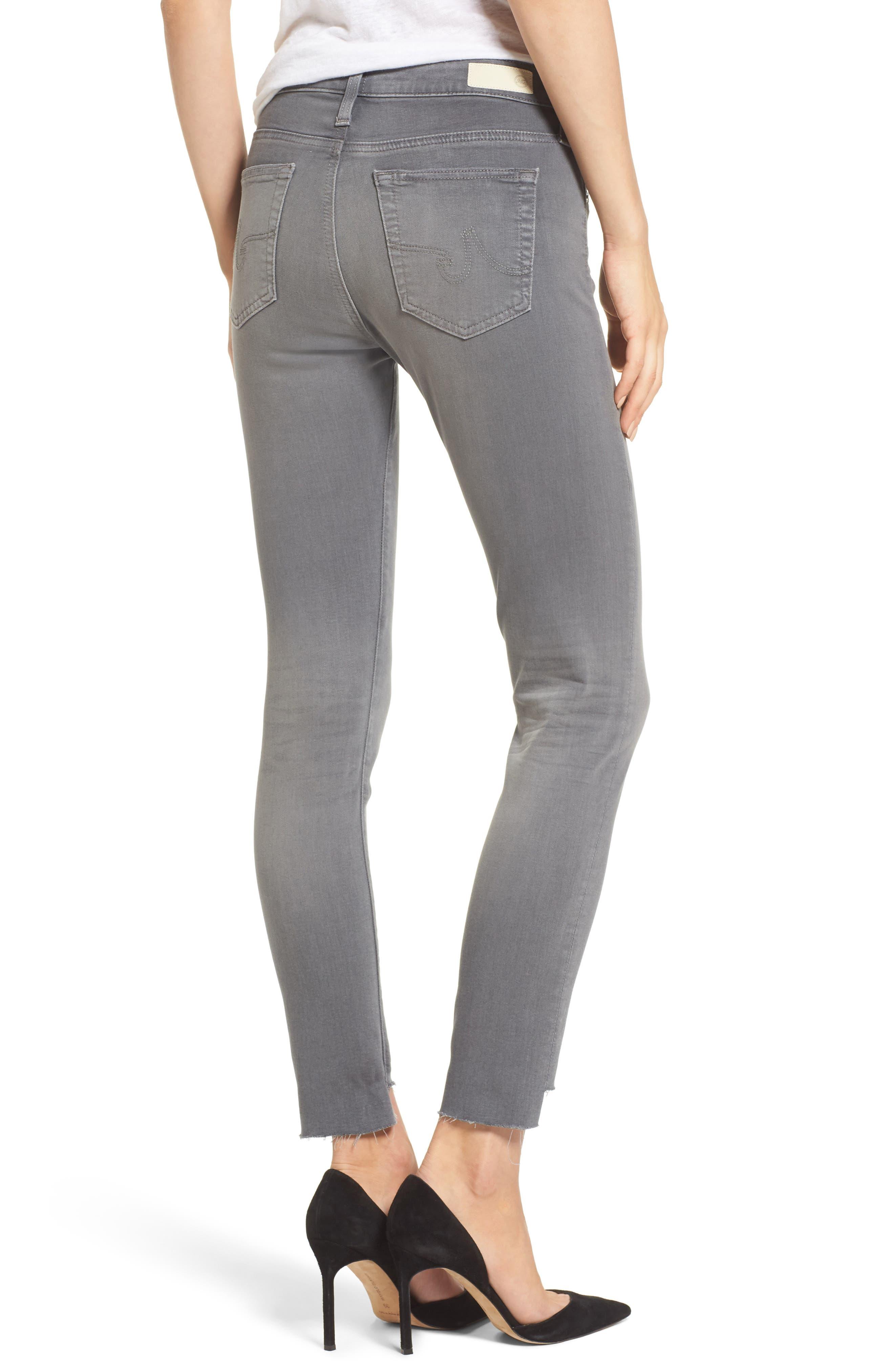 Farrah High Waist Ankle Skinny Jeans,                             Alternate thumbnail 2, color,                             10 Years Grey Shadow