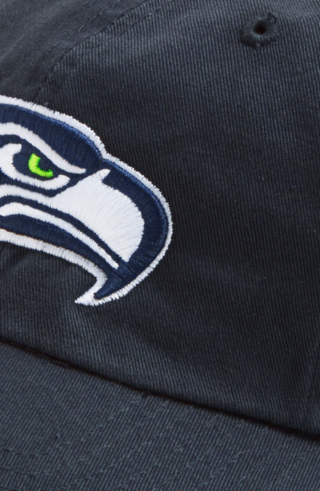 'Seattle Seahawks - Clean Up' Cap,                             Alternate thumbnail 2, color,                             Navy