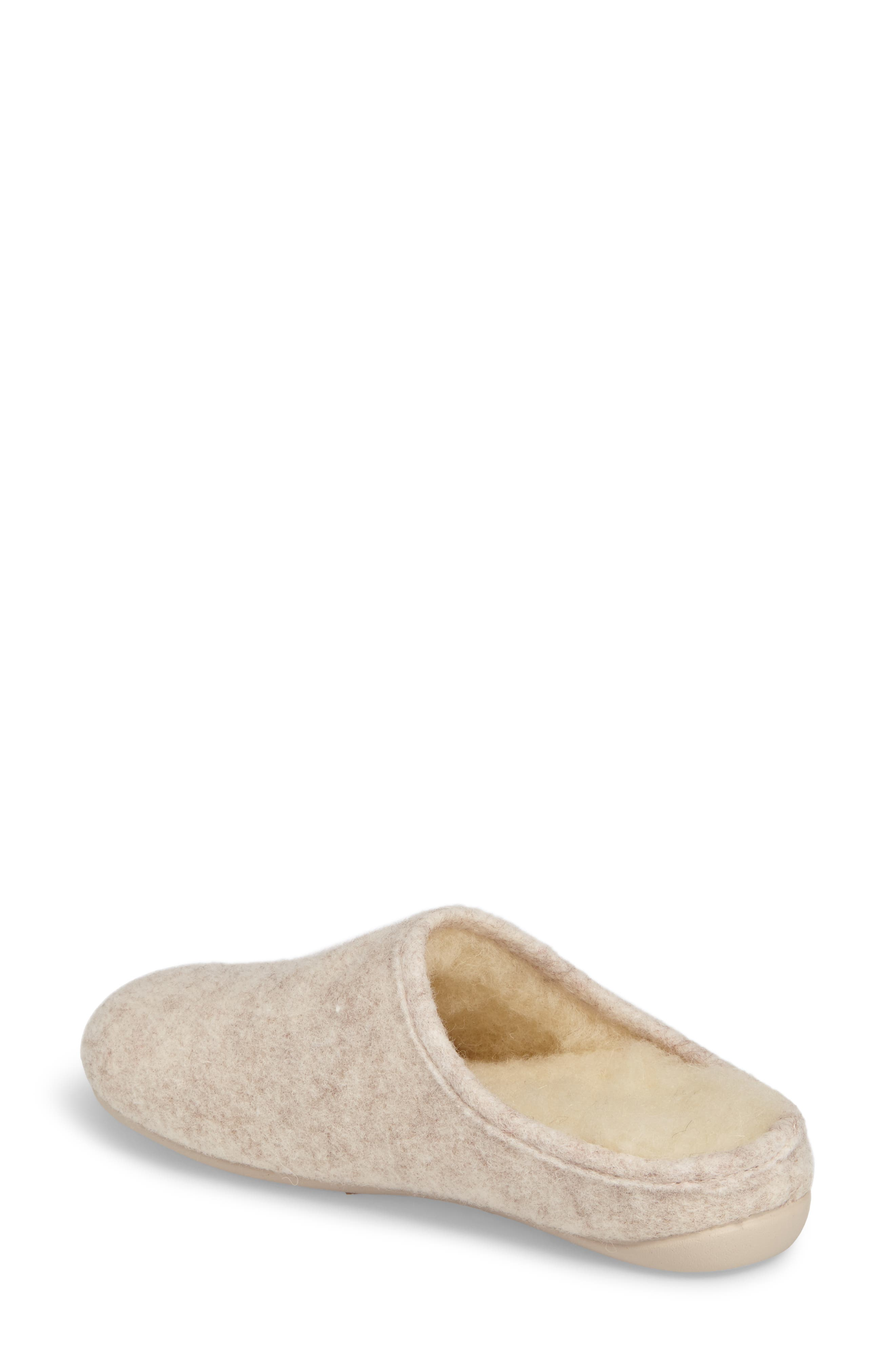 Emma Slipper,                             Alternate thumbnail 2, color,                             Cream Fabric
