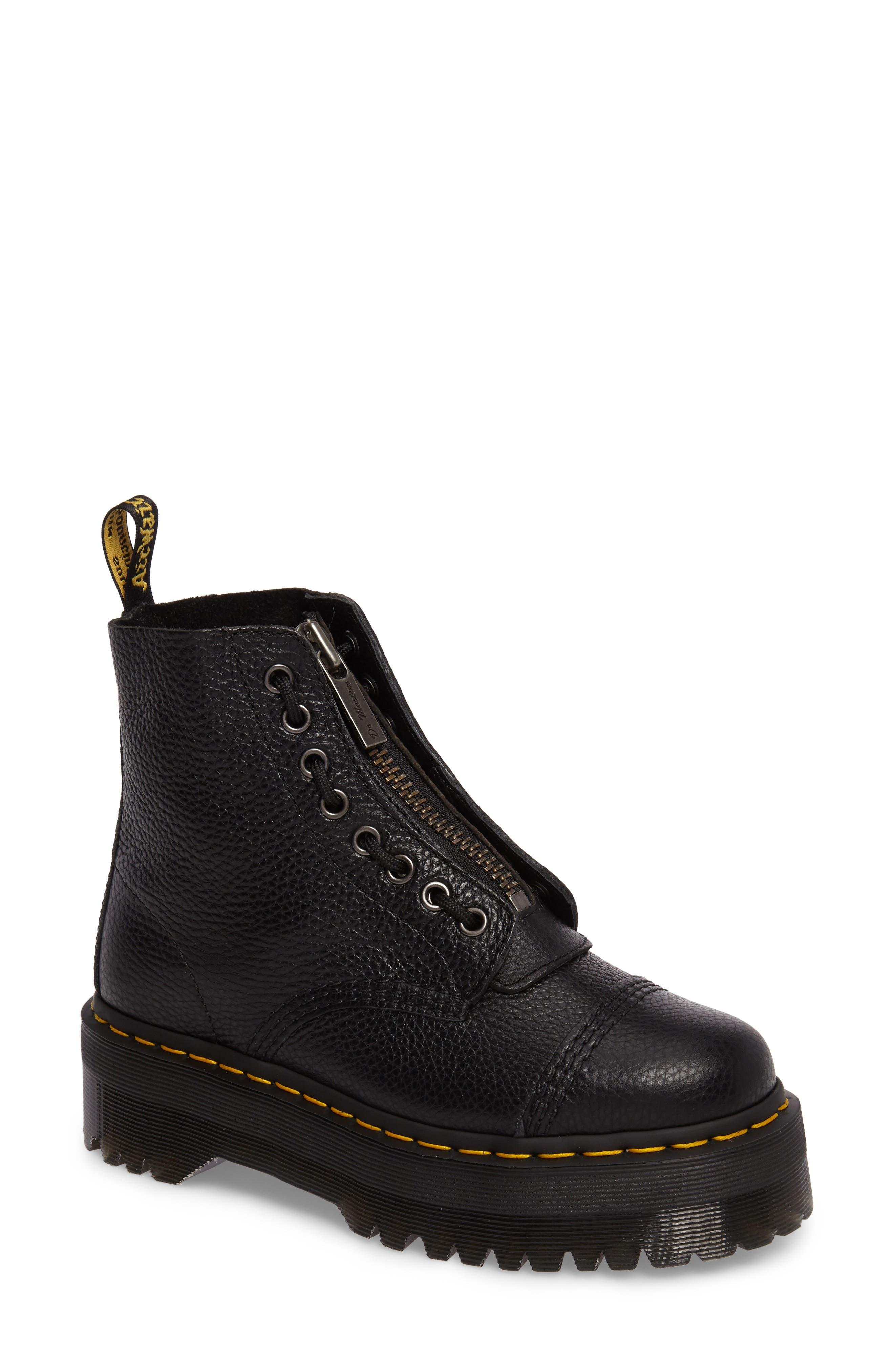 Sinclair Bootie,                         Main,                         color, Black Leather