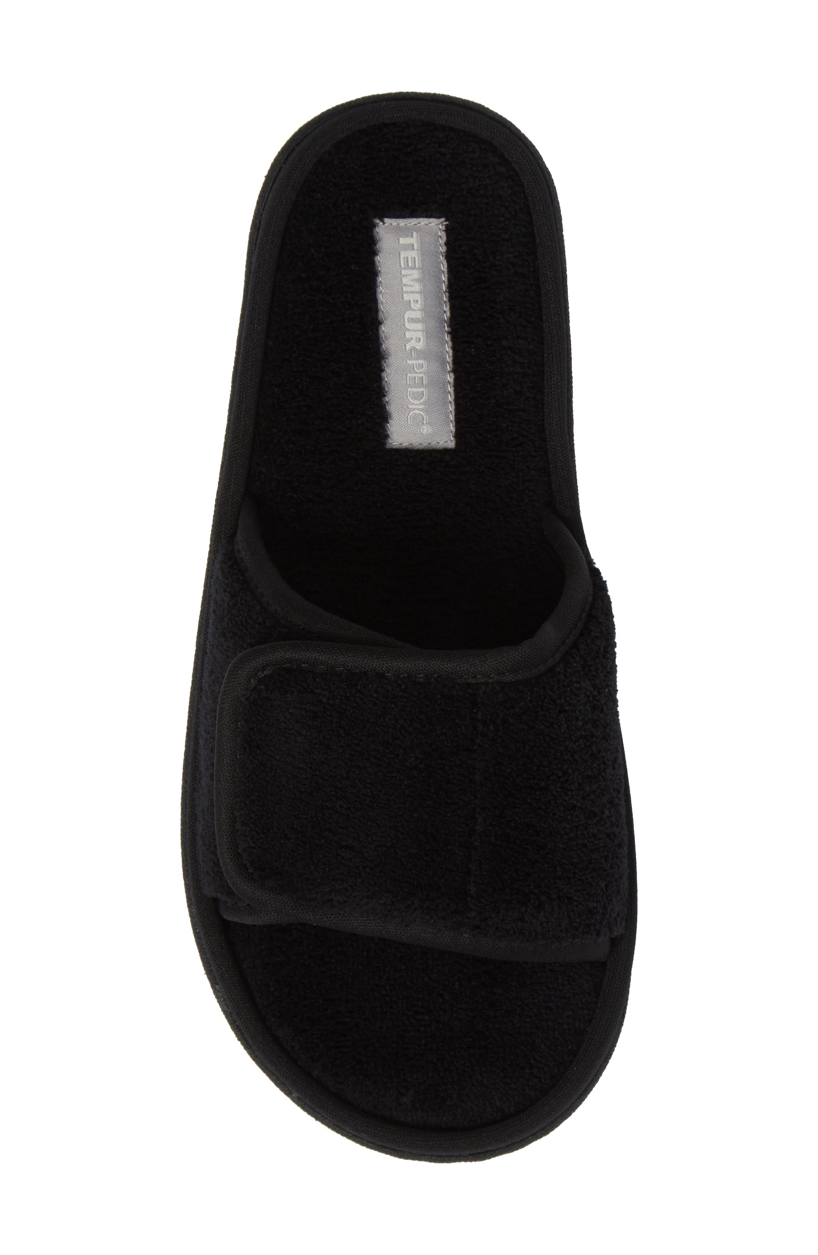Geana Slipper,                             Alternate thumbnail 5, color,                             Black Fabric