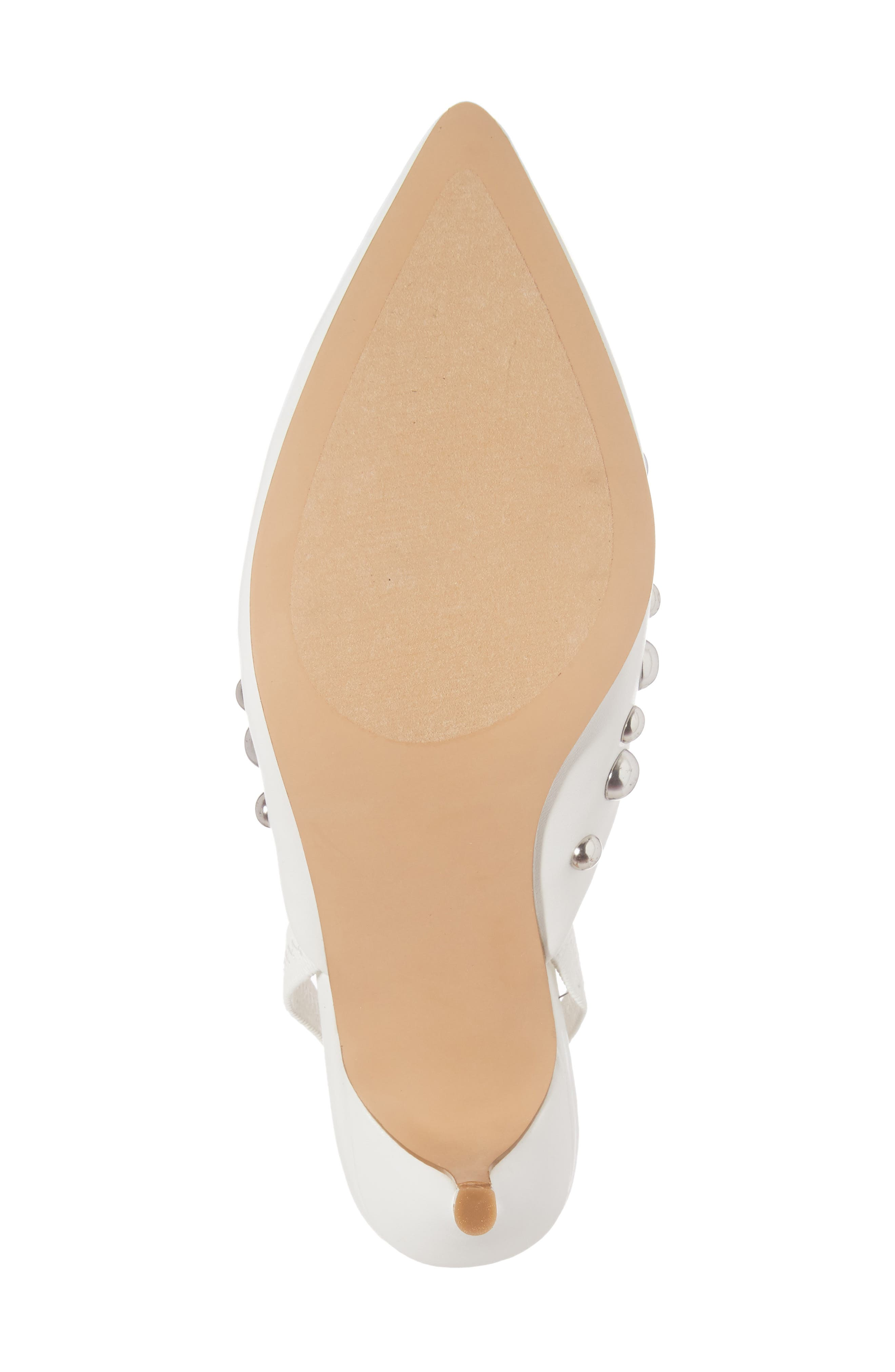 Meteor Studded Pump,                             Alternate thumbnail 6, color,                             White Faux Leather