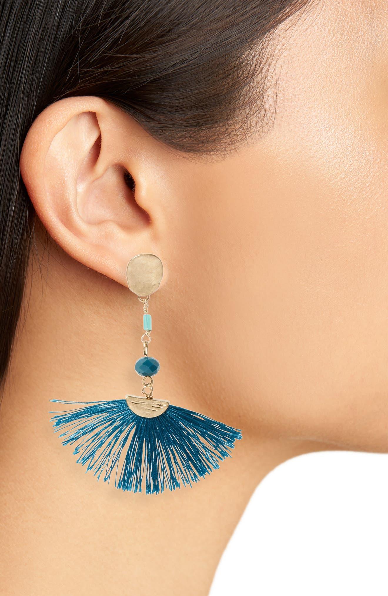 Alternate Image 2  - Canvas Jewelry Fan Drop Post Earrings