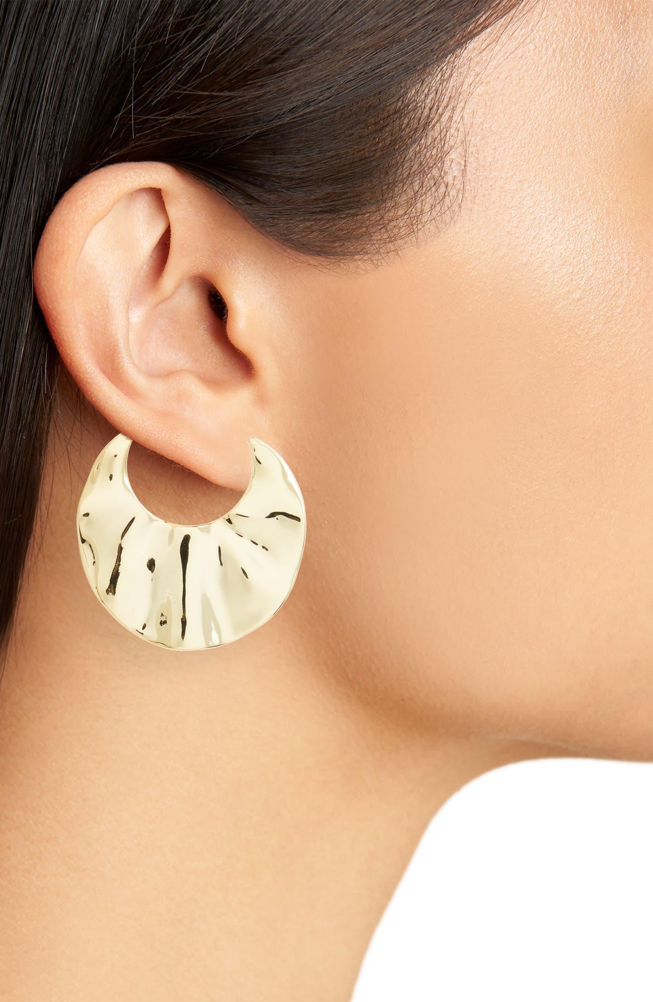 Alternate Image 2  - gorjana Chloe Crescent Hoop Earrings