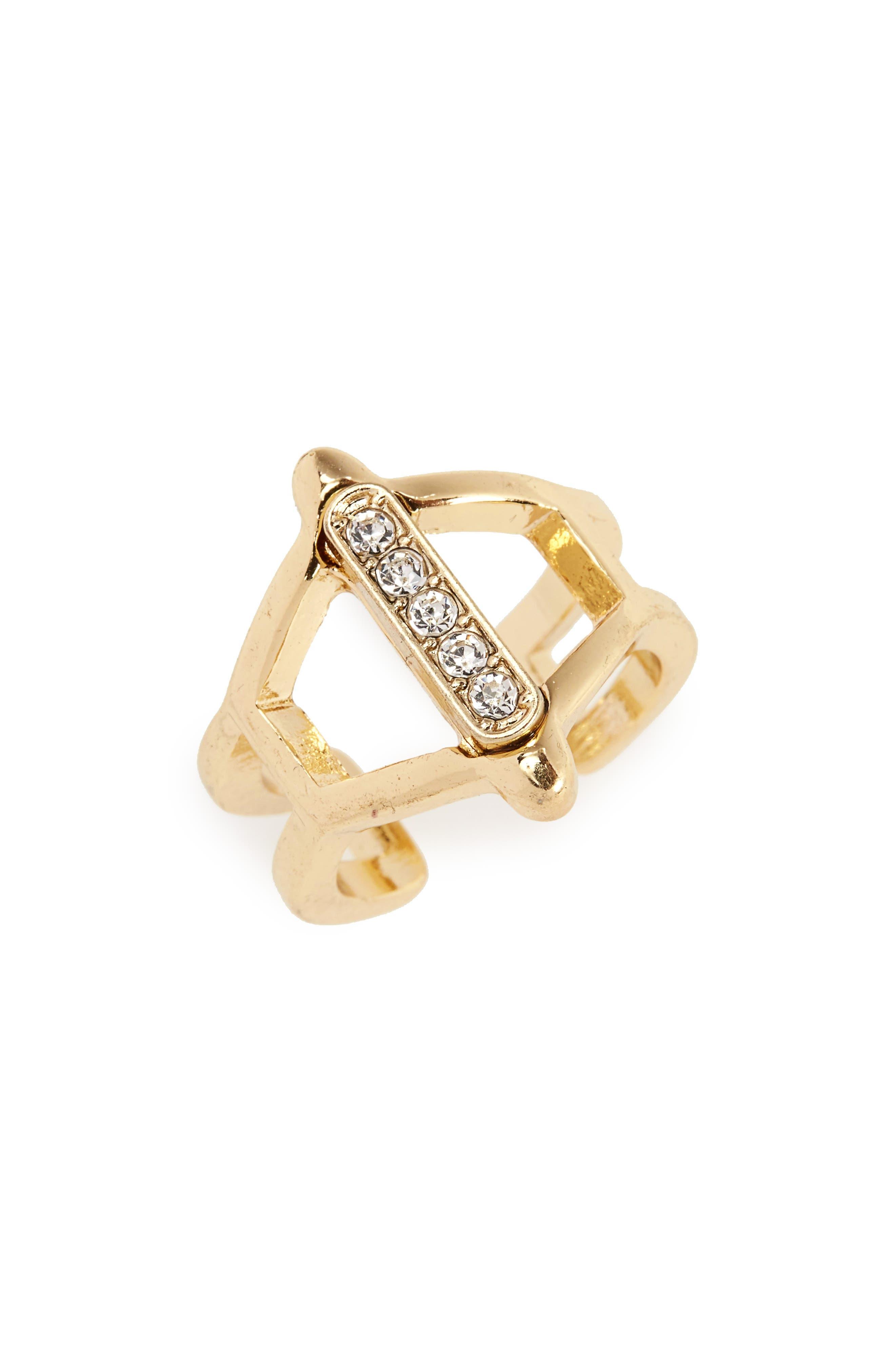 Crystal Ring,                         Main,                         color, Gold