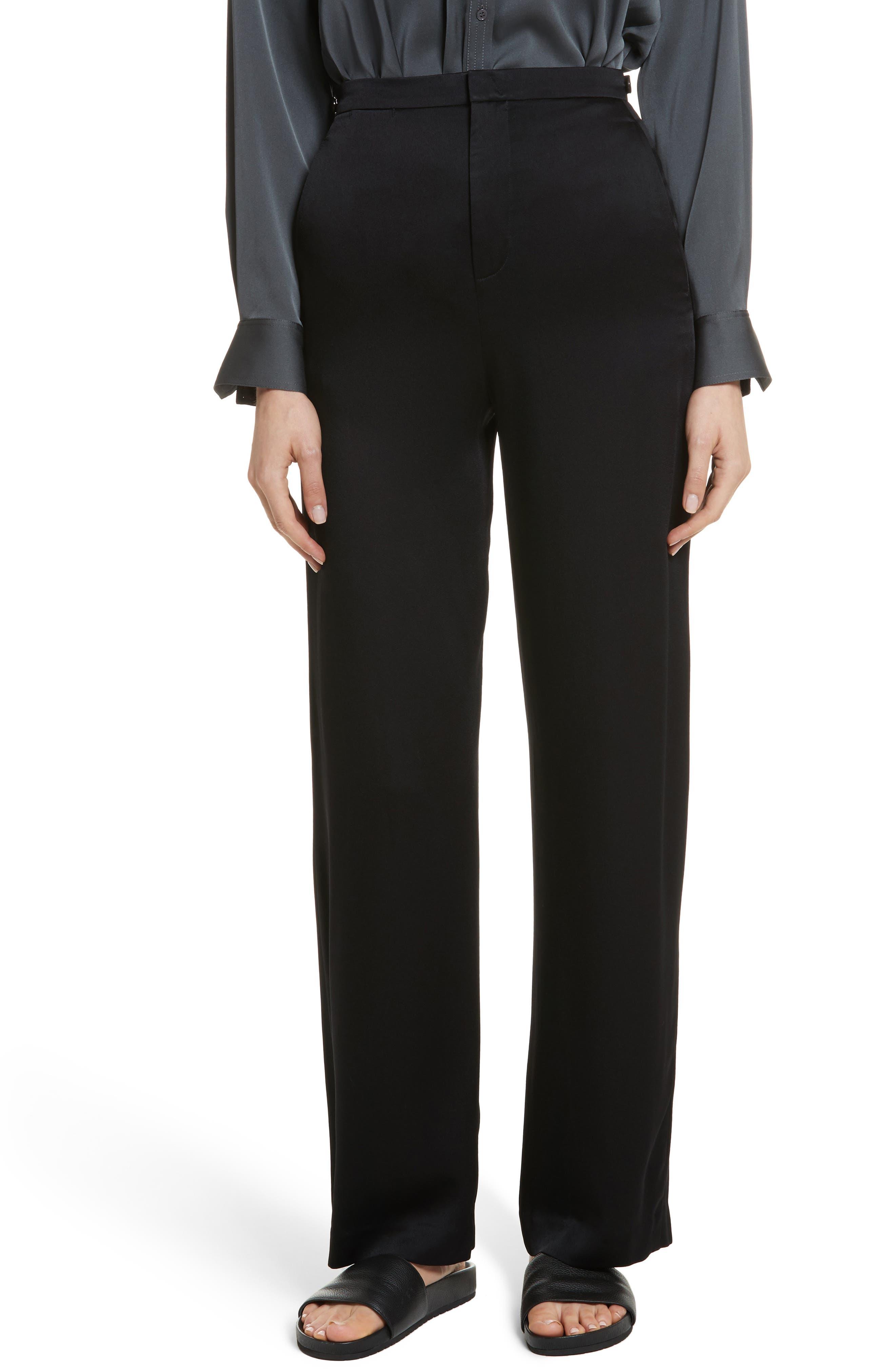High Waisted Wide Leg Pants,                         Main,                         color, Black