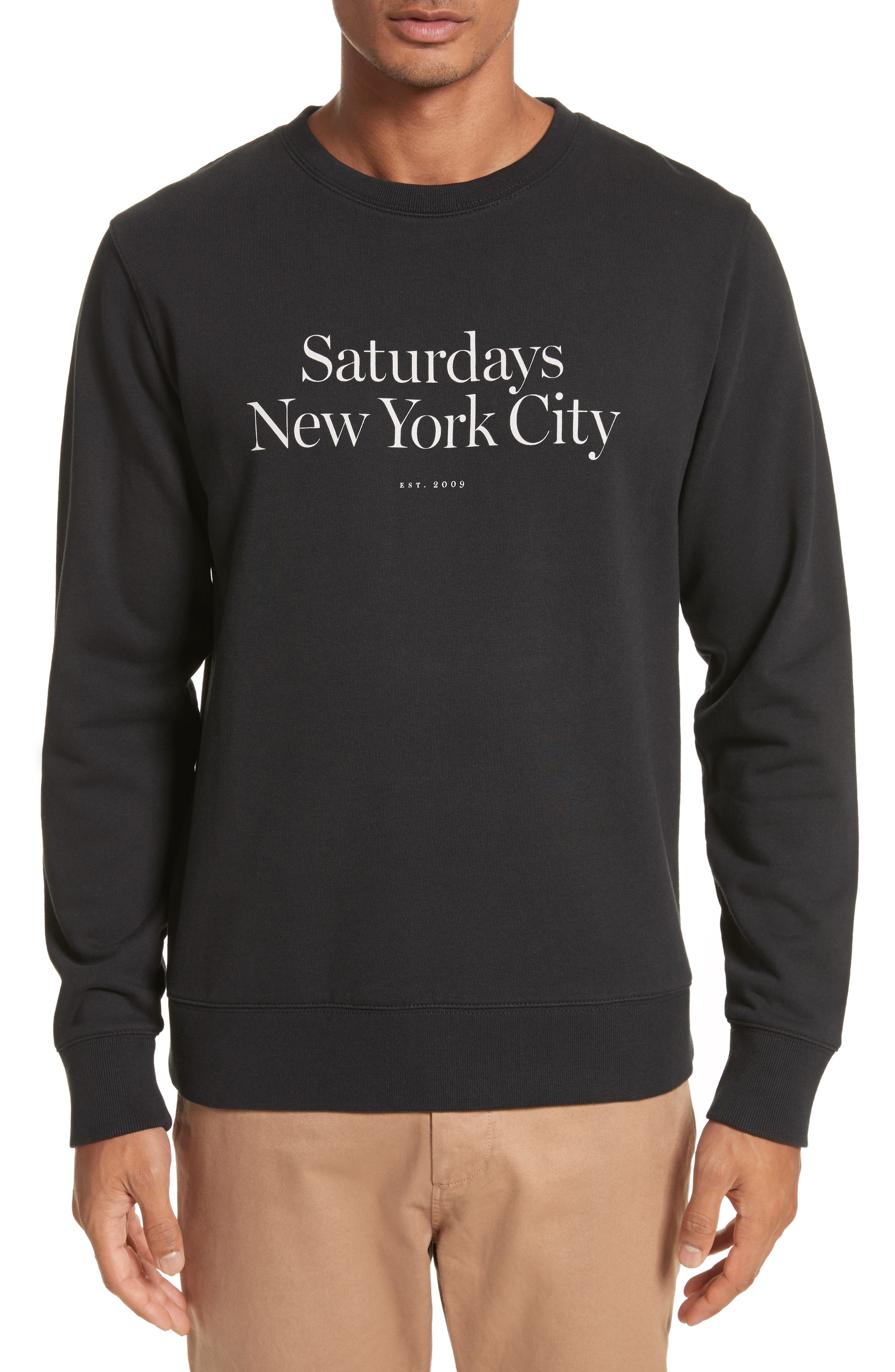 Alternate Image 1 Selected - Saturdays NYC Bowery Miller Graphic Sweatshirt