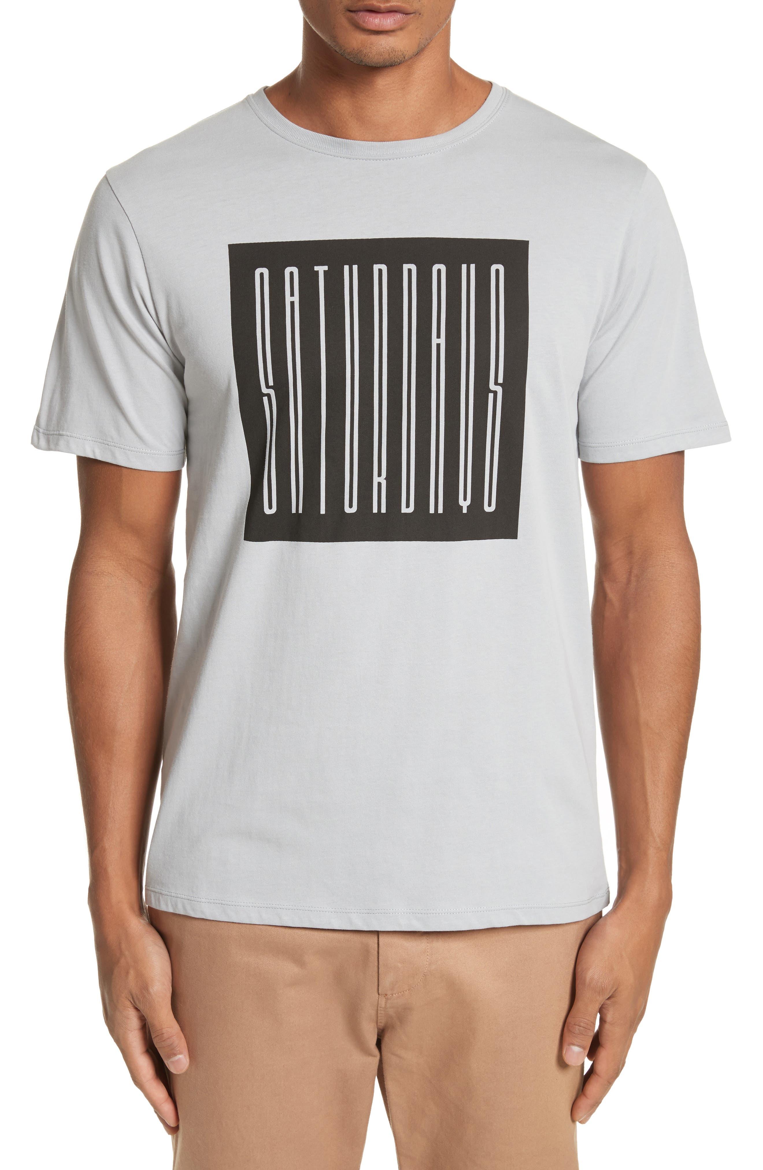Super Condensed Logo T-Shirt,                             Main thumbnail 1, color,                             Stone Blue