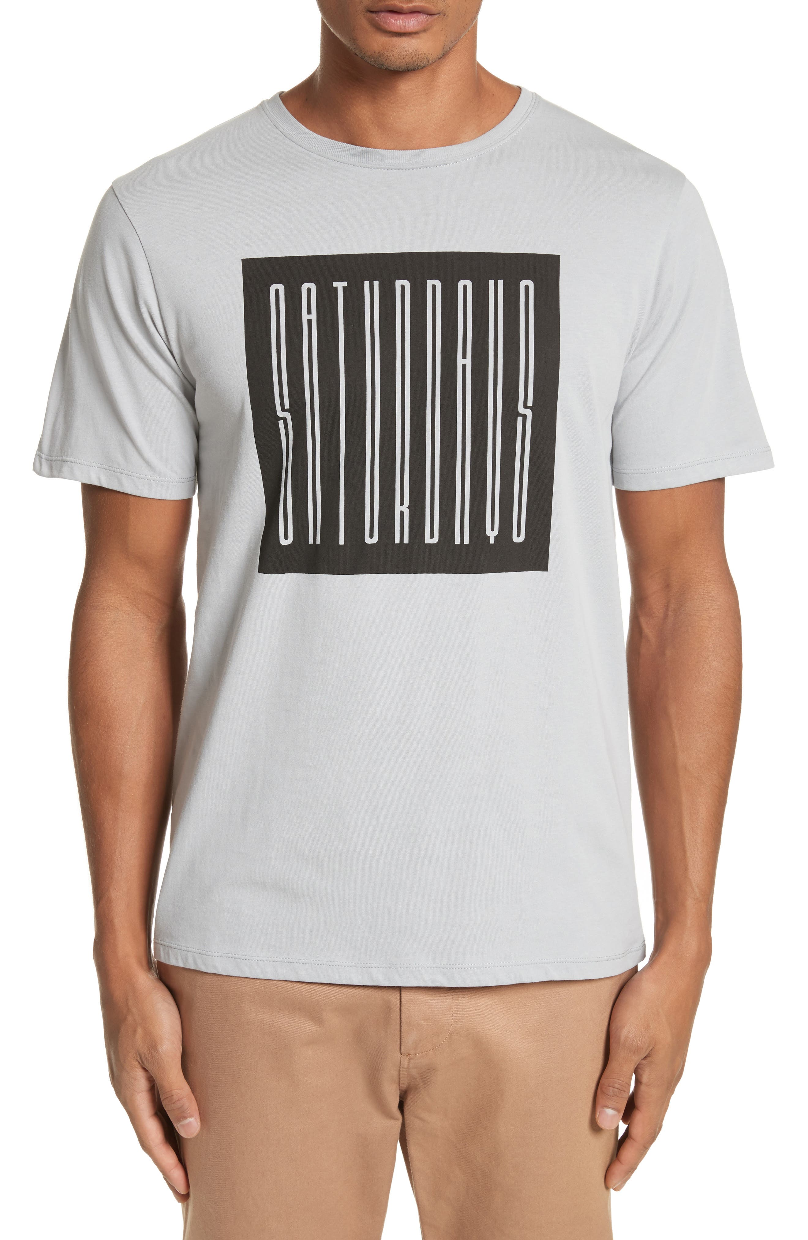 Super Condensed Logo T-Shirt,                         Main,                         color, Stone Blue