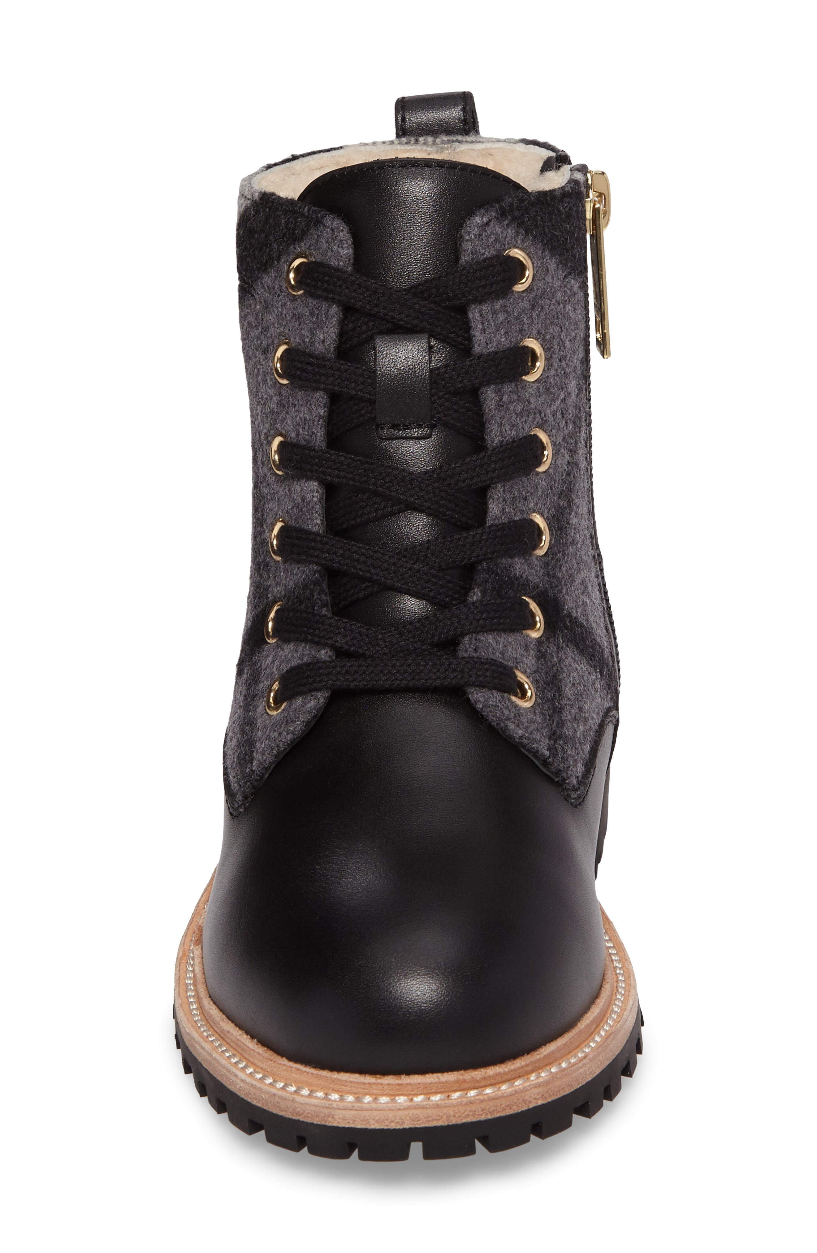 Alternate Image 4  - Burberry Mini William Genuine Shearling Boot (Toddler, Little Kid & Big Kid)