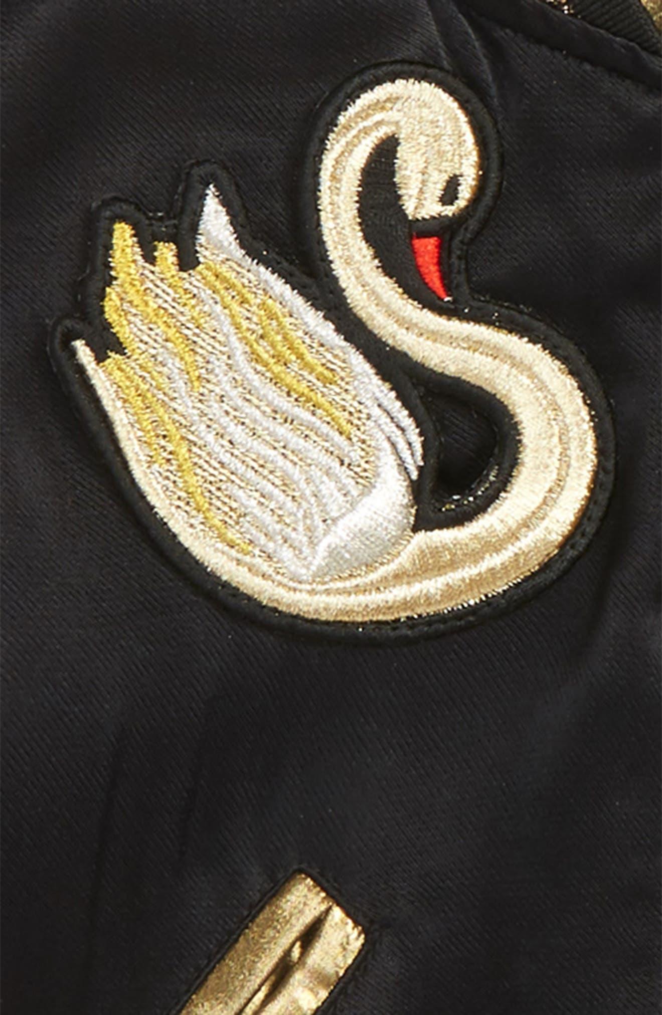 Alternate Image 2  - LITTLE MARC JACOBS Reversible Swan & Star Bomber Jacket (Toddler Girls, Little Girls & Big Girls)