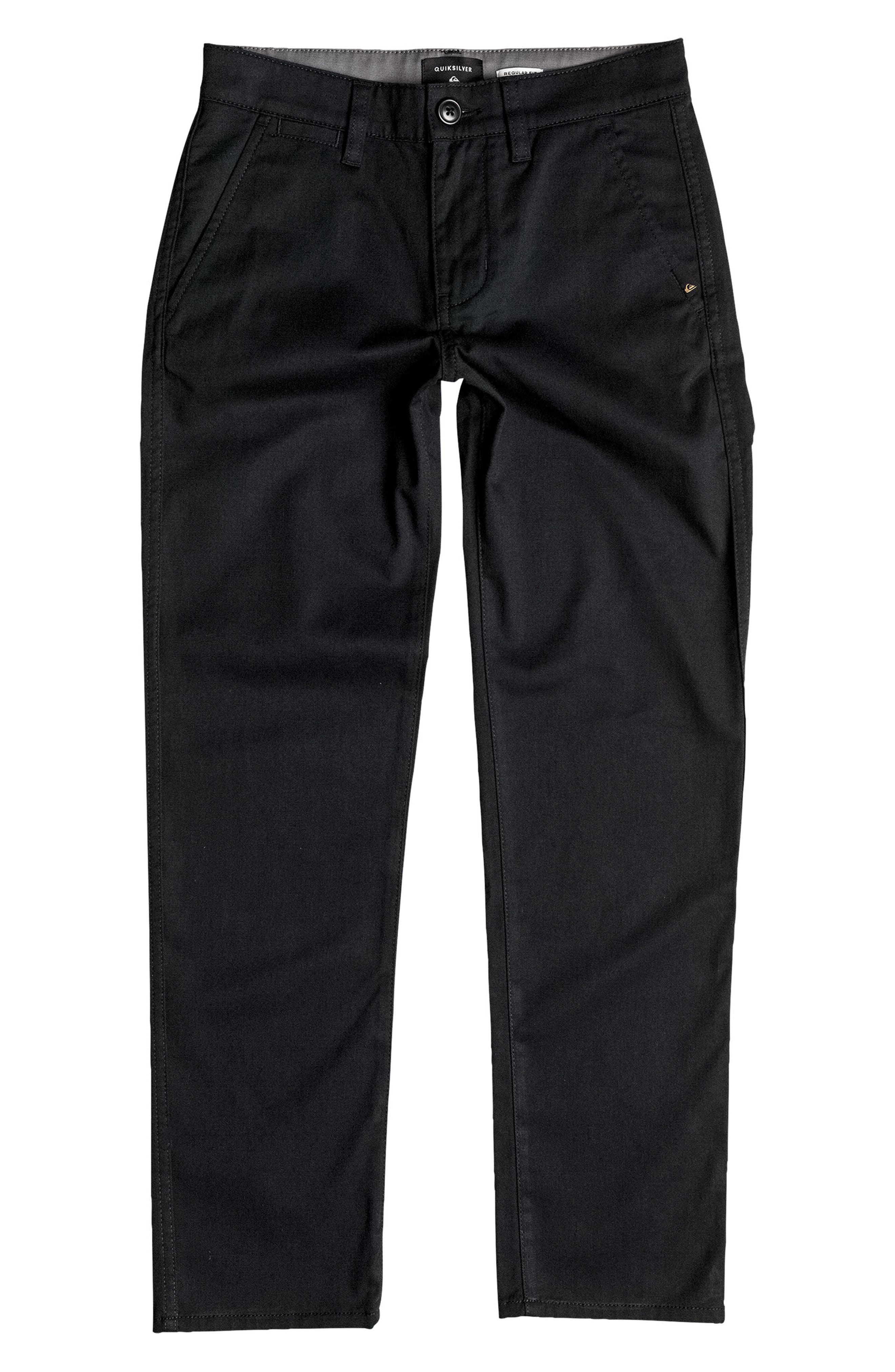 Regular Fit Everyday Union Pants,                         Main,                         color, Black