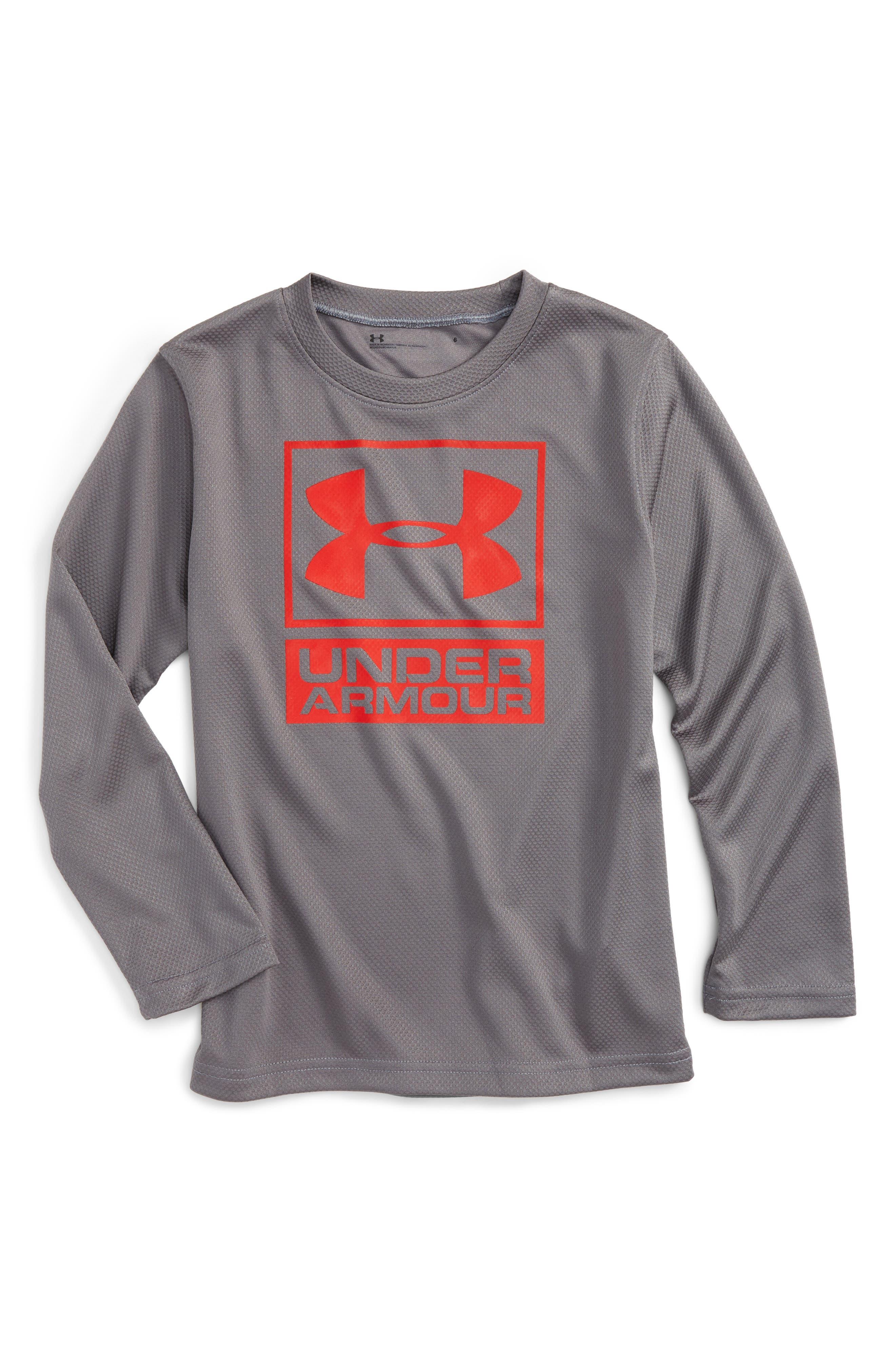 Textured Knit T-Shirt,                         Main,                         color, Graphite