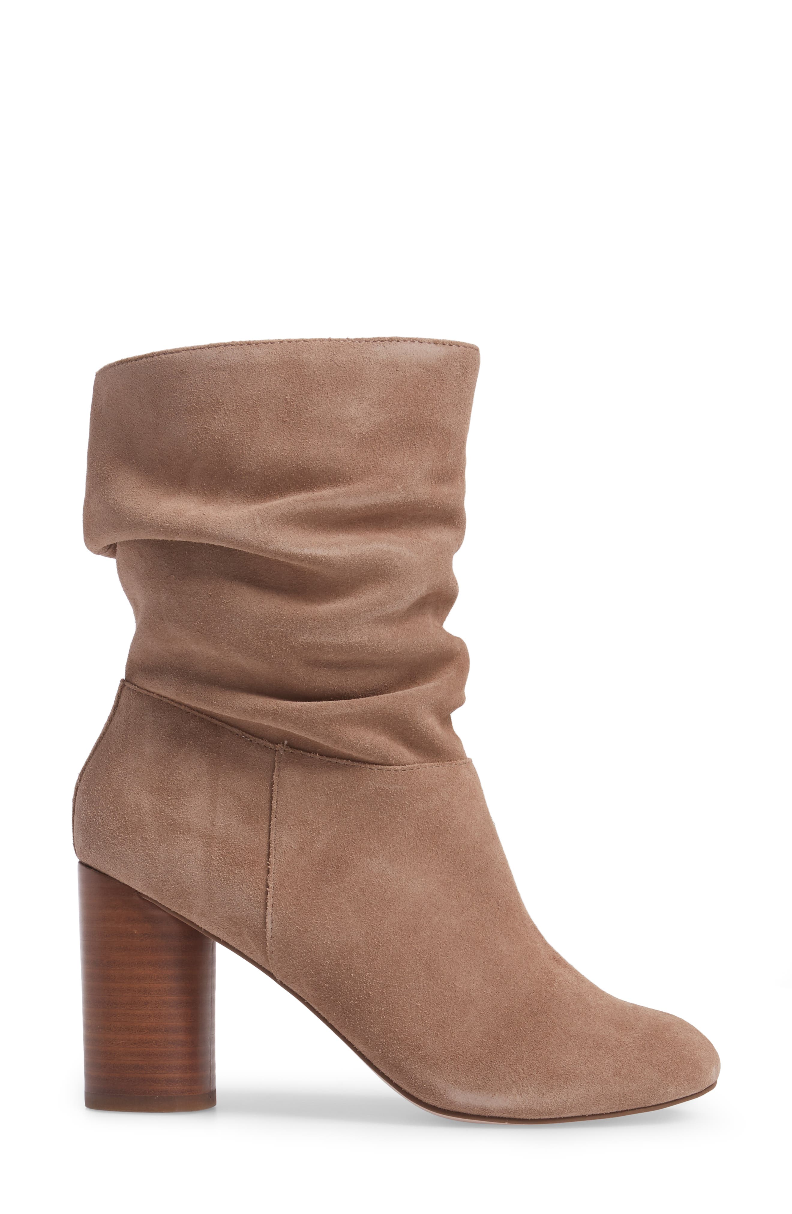 Belen Slouchy Bootie,                             Alternate thumbnail 3, color,                             Night Taupe