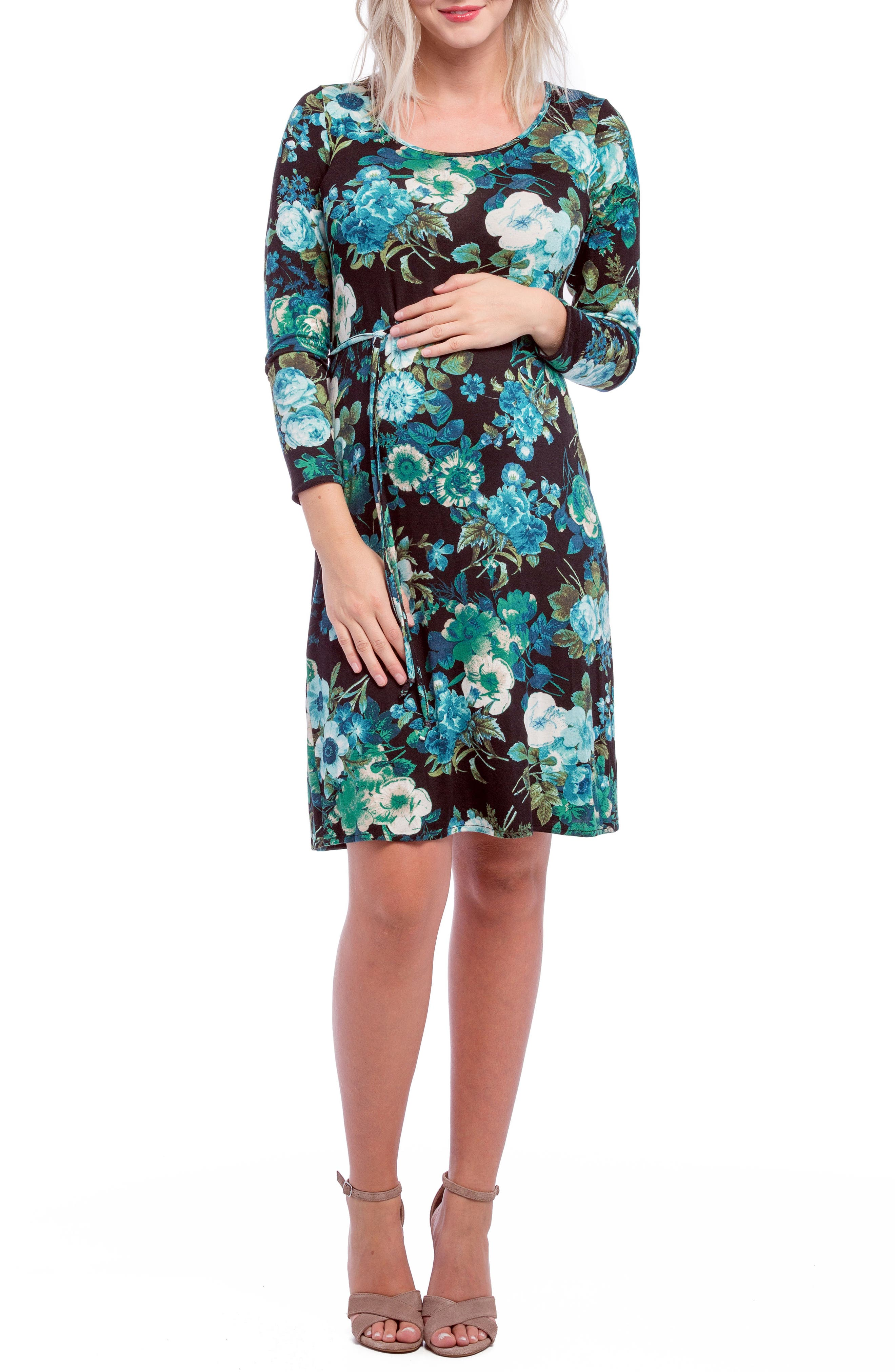 Alternate Image 1 Selected - Lilac Clothing Print Maternity Shift Dress