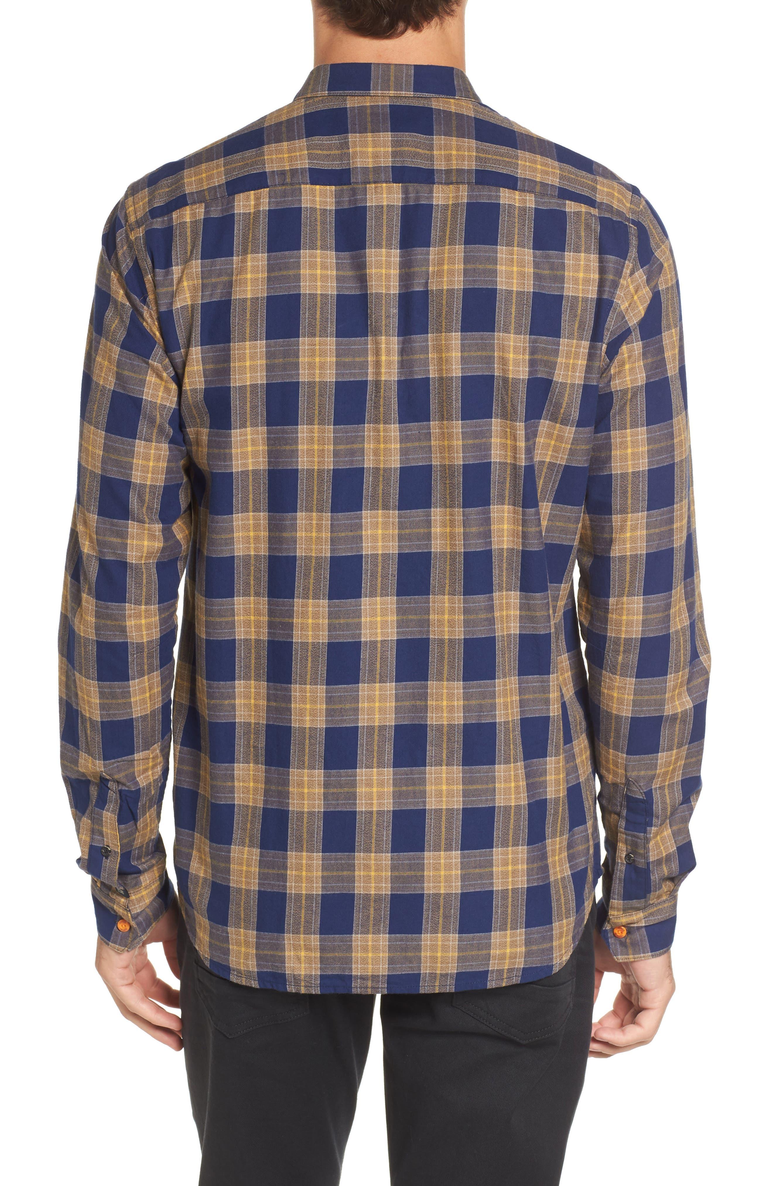 Scotch & Sode Brushed Cotton Shirt,                             Alternate thumbnail 2, color,                             Blue