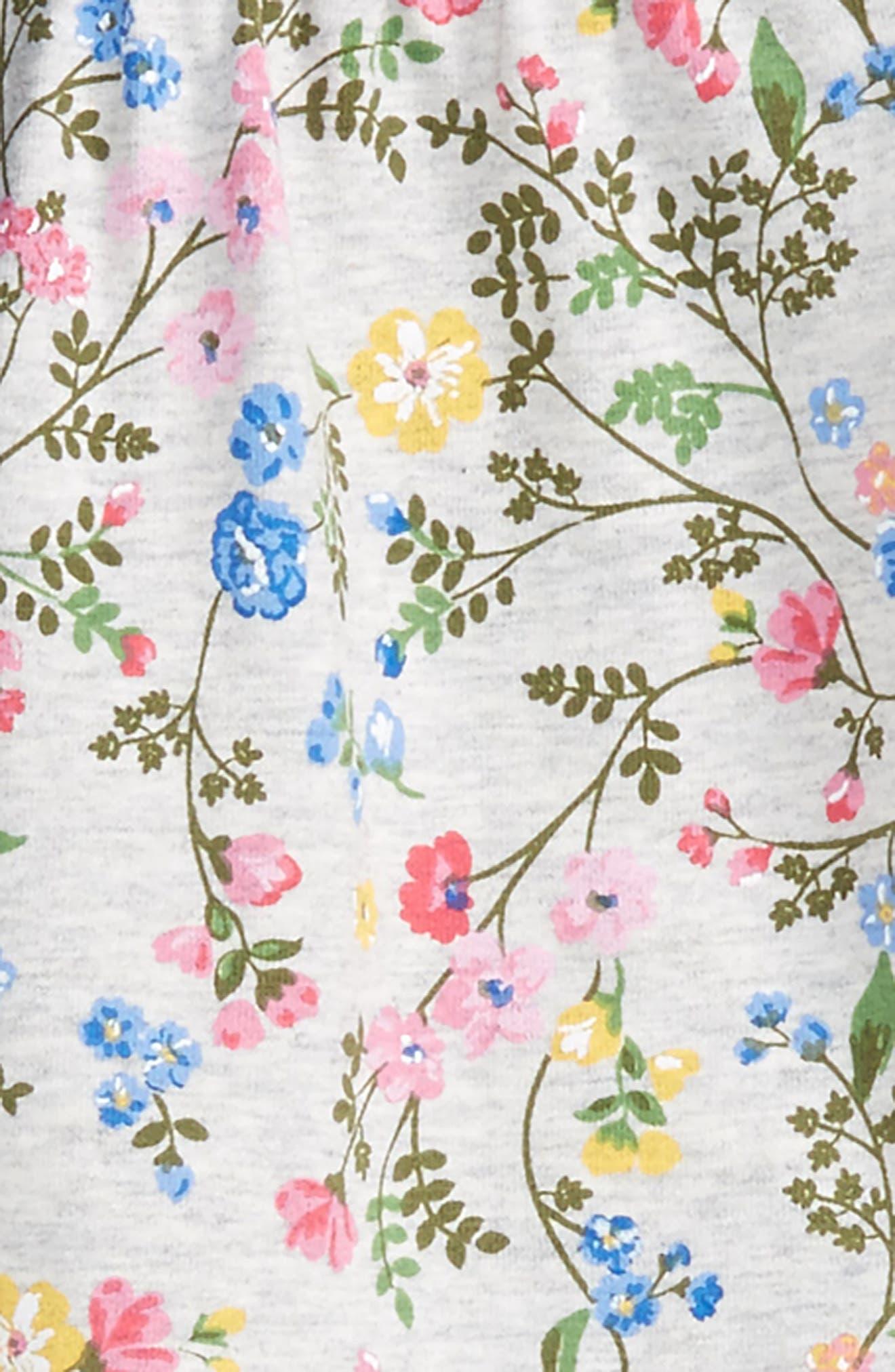Alternate Image 2  - Little Me Floral Vest, Shirt & Pants Set (Baby Girls)