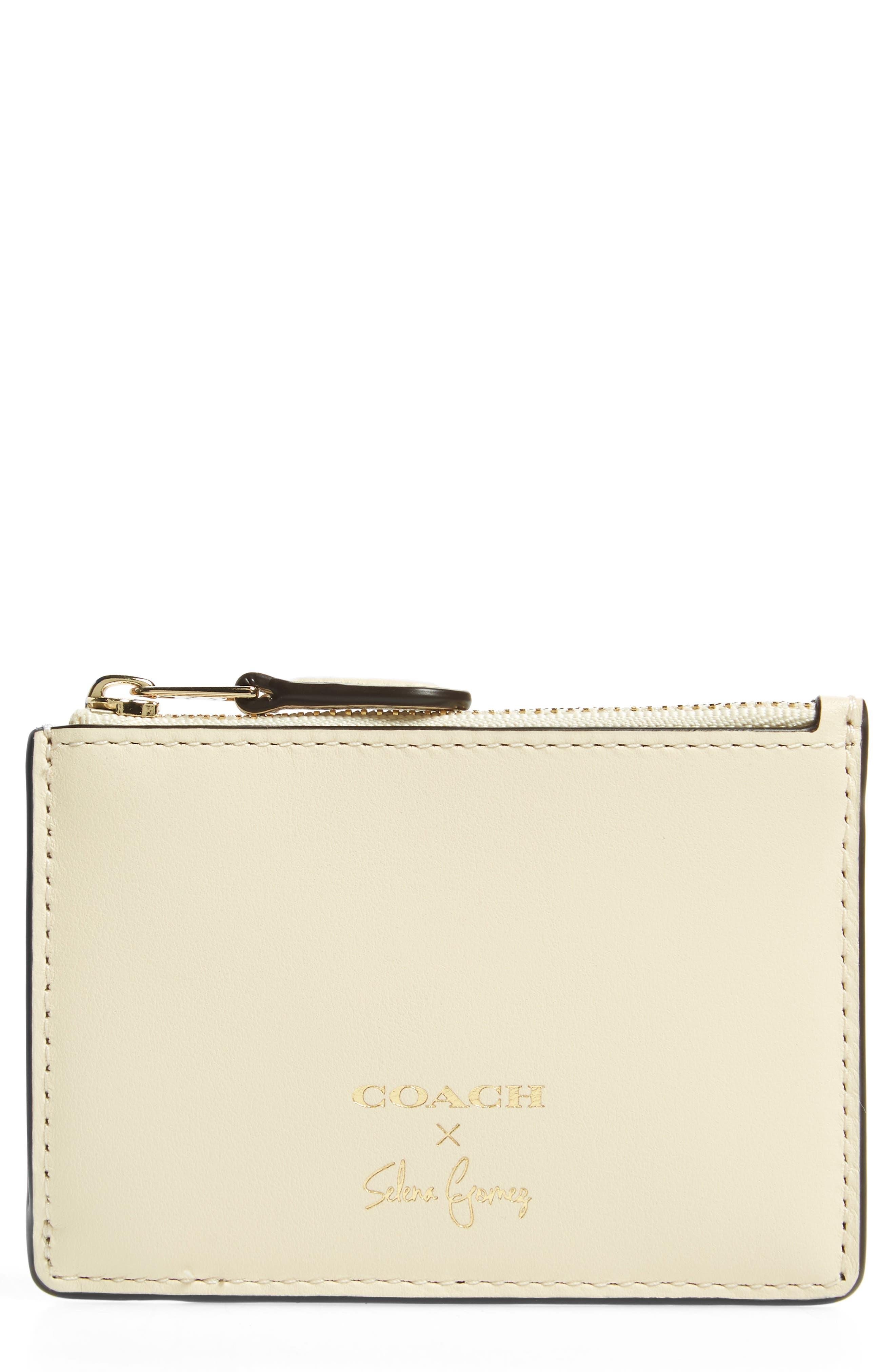 Main Image - COACH x Selena Gomez Mini Skinny Leather Card Case