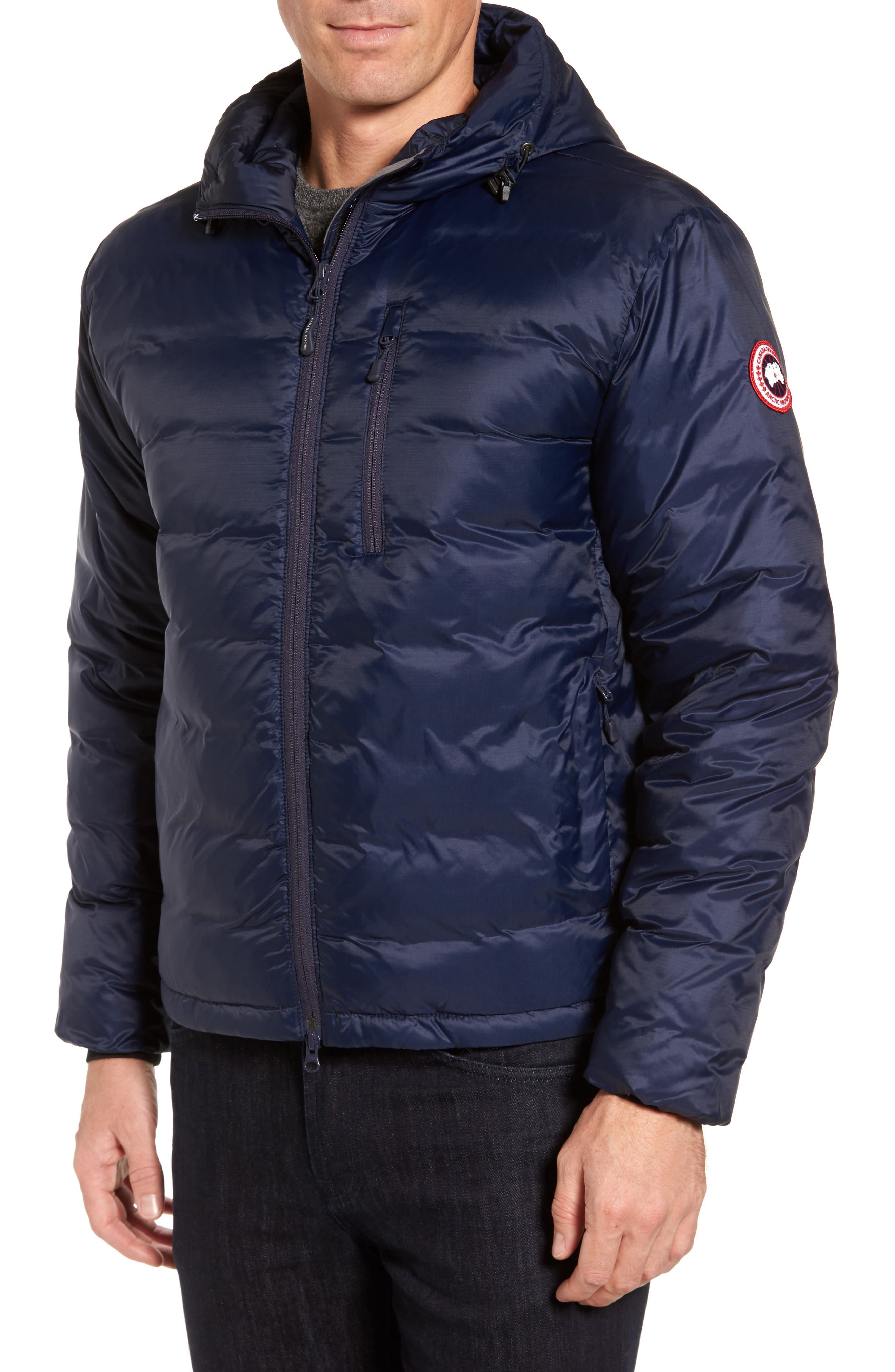 Alternate Image 1 Selected - Canada Goose 'Lodge' Slim Fit Packable Hoodie