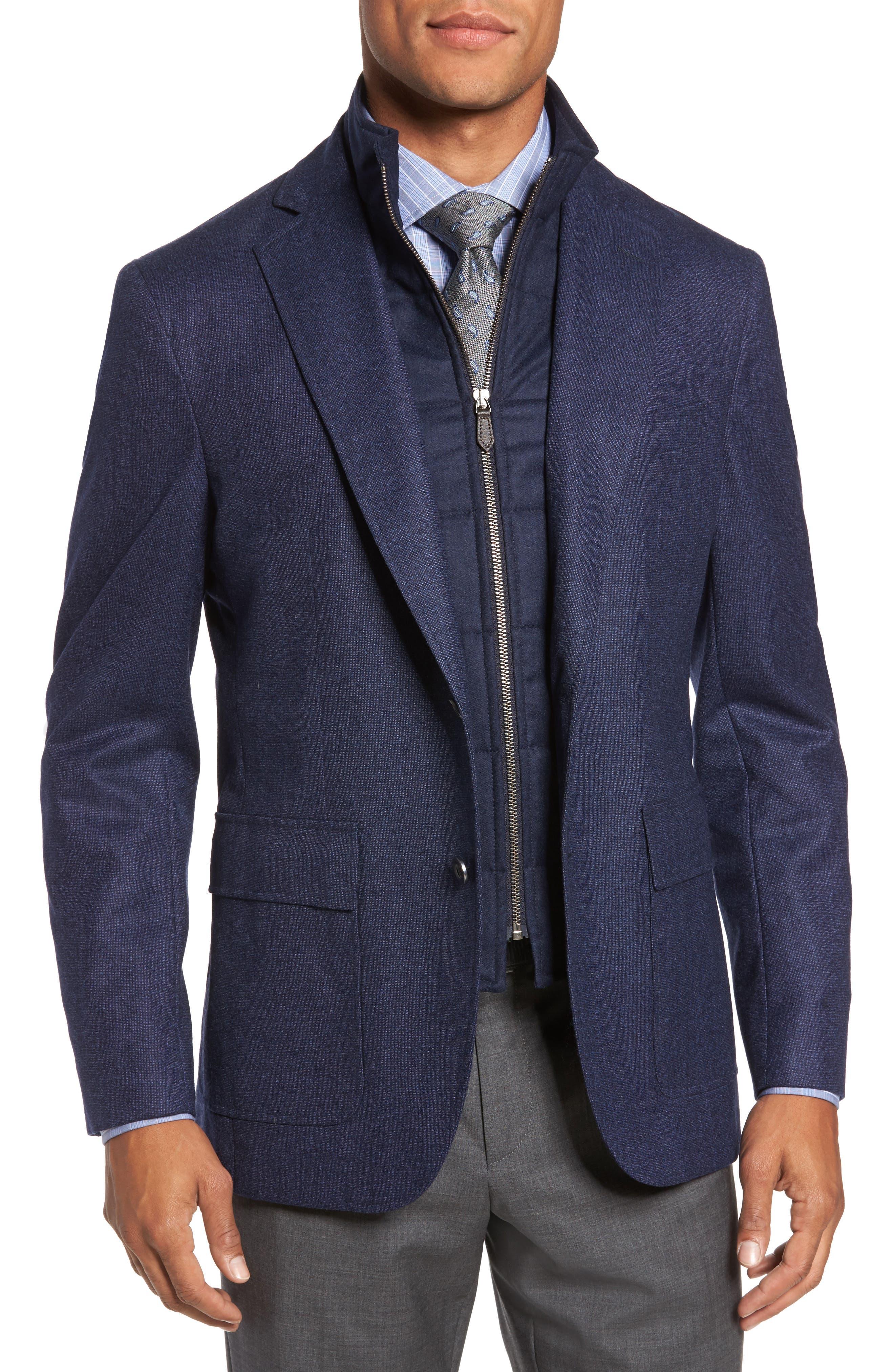 Aaron Classic Fit Wool Blazer,                         Main,                         color, Navy