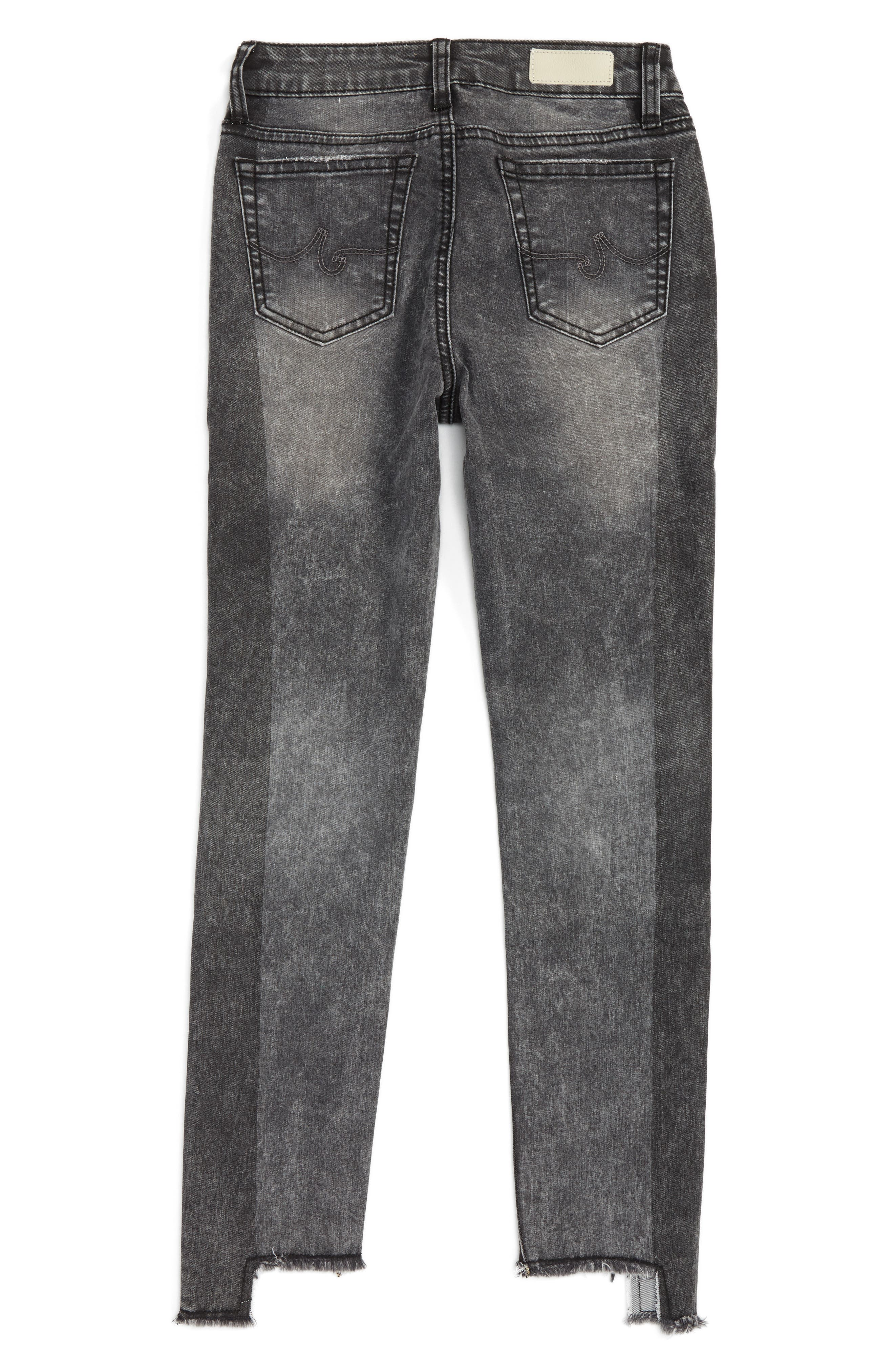 The Pieced Slim Straight Leg Jeans,                             Alternate thumbnail 2, color,                             Iron Grey
